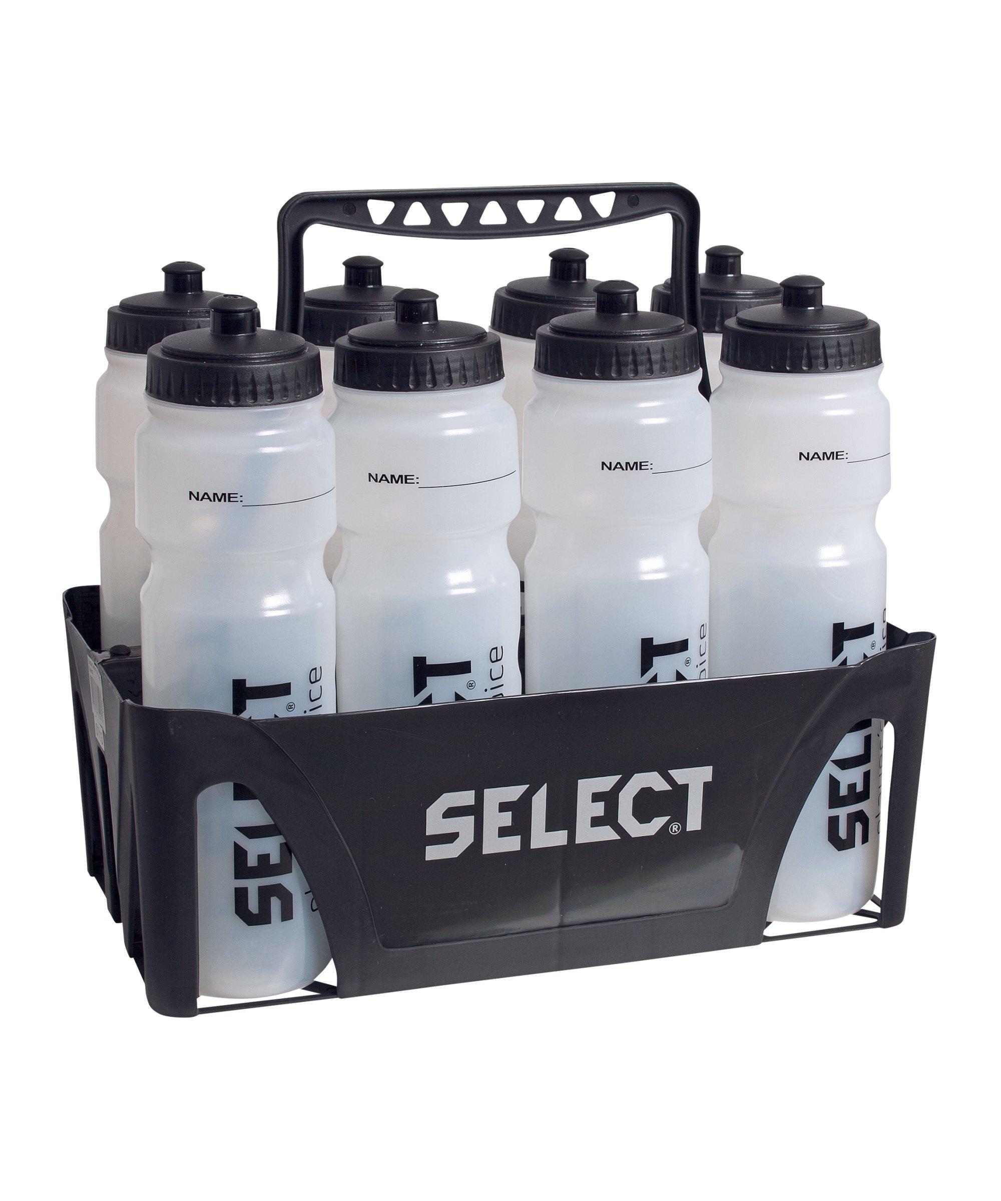 Select Trinkflaschenhalter f. 8 Flaschen Schwarz - schwarz