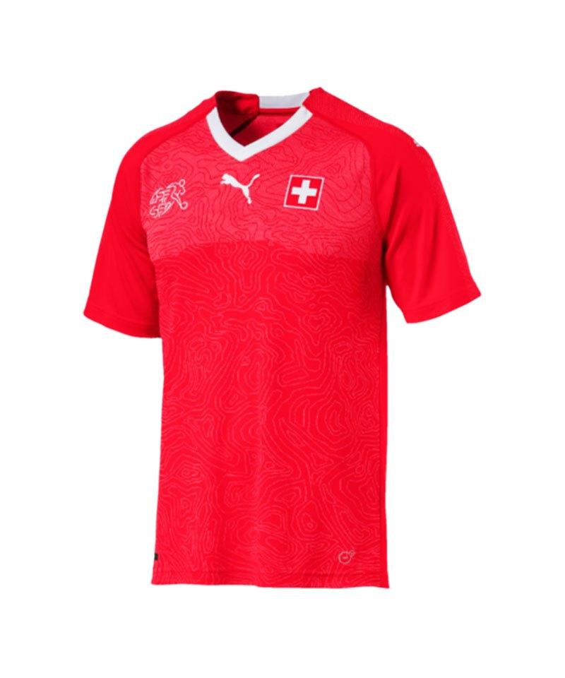 PUMA Schweiz Trikot Home WM 2018 Rot F01 - rot