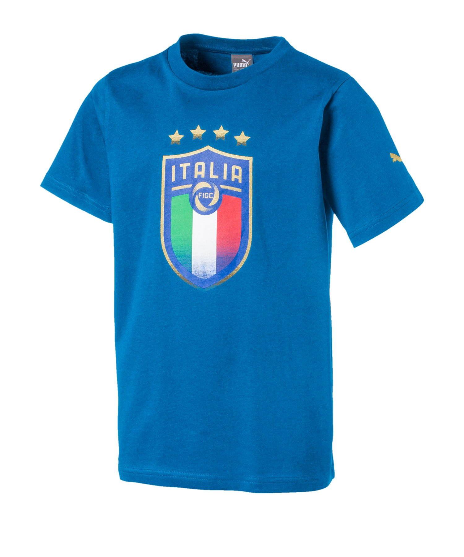 PUMA Italien Badge T-Shirt Kids Blau F01 - blau