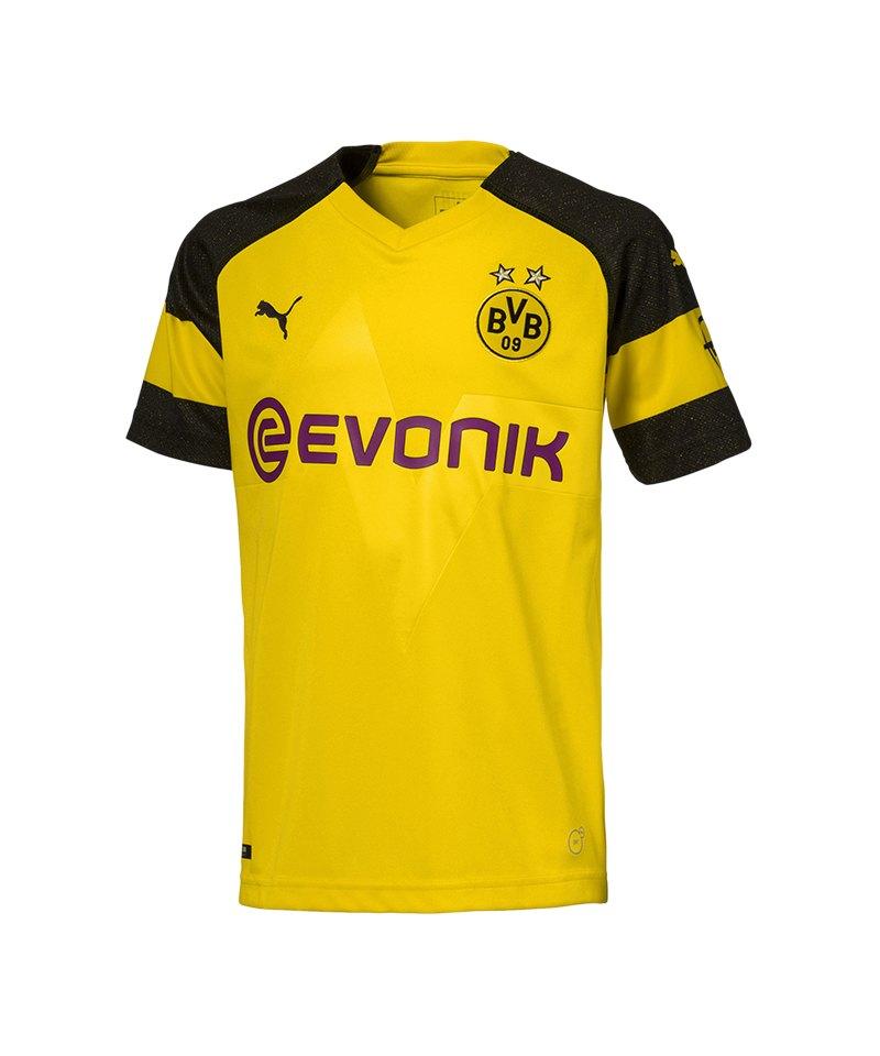 PUMA BVB Dortmund Trikot Home 2018/2019 Kids Gelb F01 - gelb