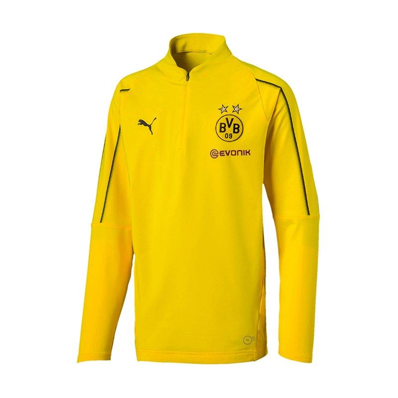 PUMA BVB Dortmund 1/4 Zip Training Top Kids F01 - gelb