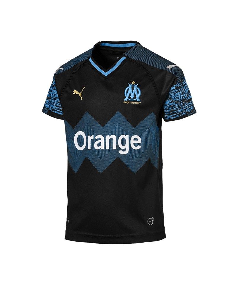 PUMA Olympique Marseille Trikot Away 2018/2019 Kids Schwarz F02 - schwarz