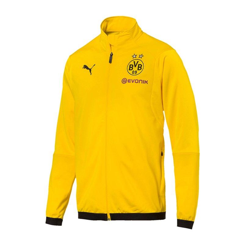 PUMA BVB Dortmund Poly Jacket Jacke Gelb F01 - gelb