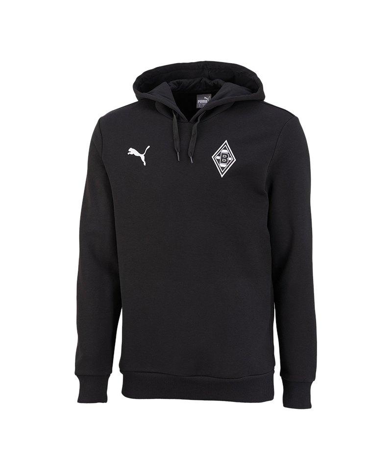 PUMA Borussia Mönchengladbach Kapuzensweat F01 - schwarz