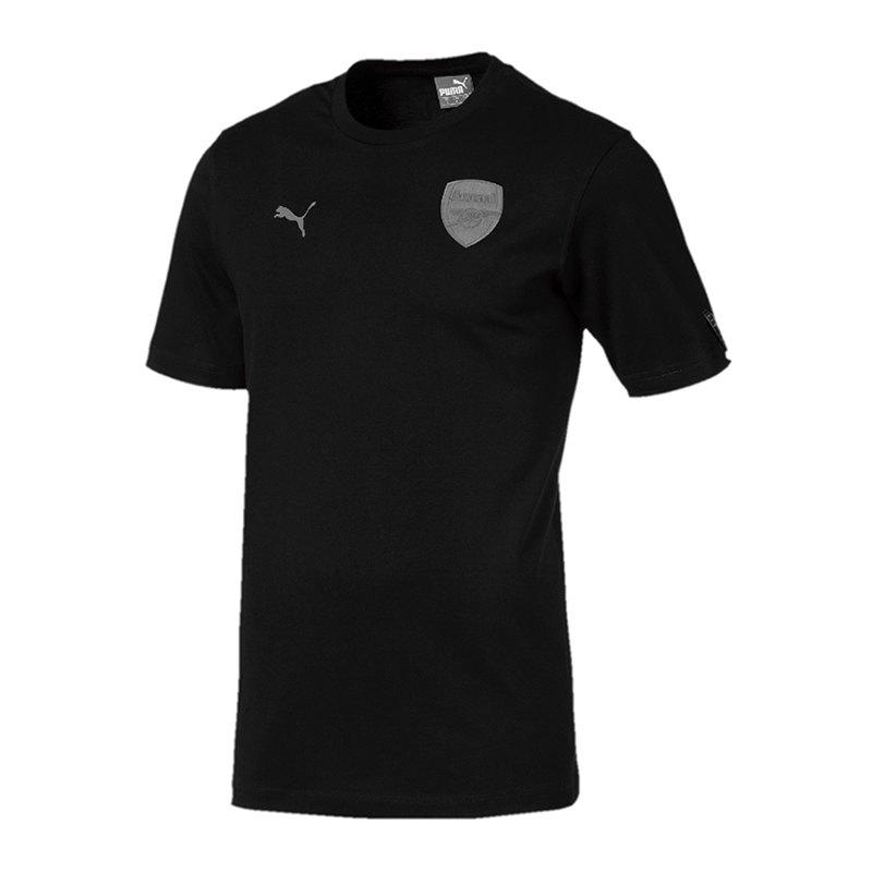 PUMA FC Arsenal Slogan Tee T-Shirt Schwarz F08 - schwarz