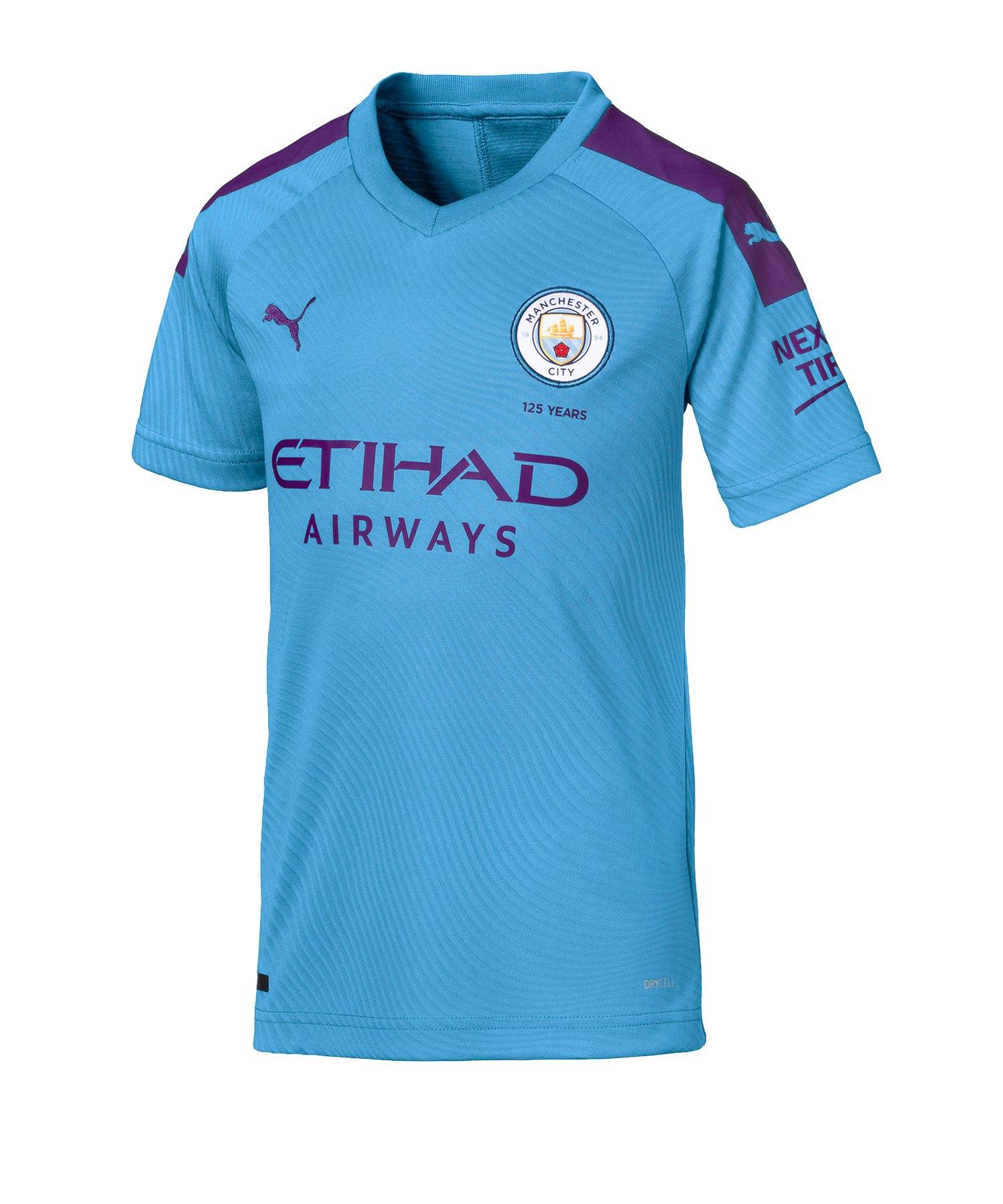PUMA Manchester City Trikot Home 2019/2020 Kids Blau F01 - Blau