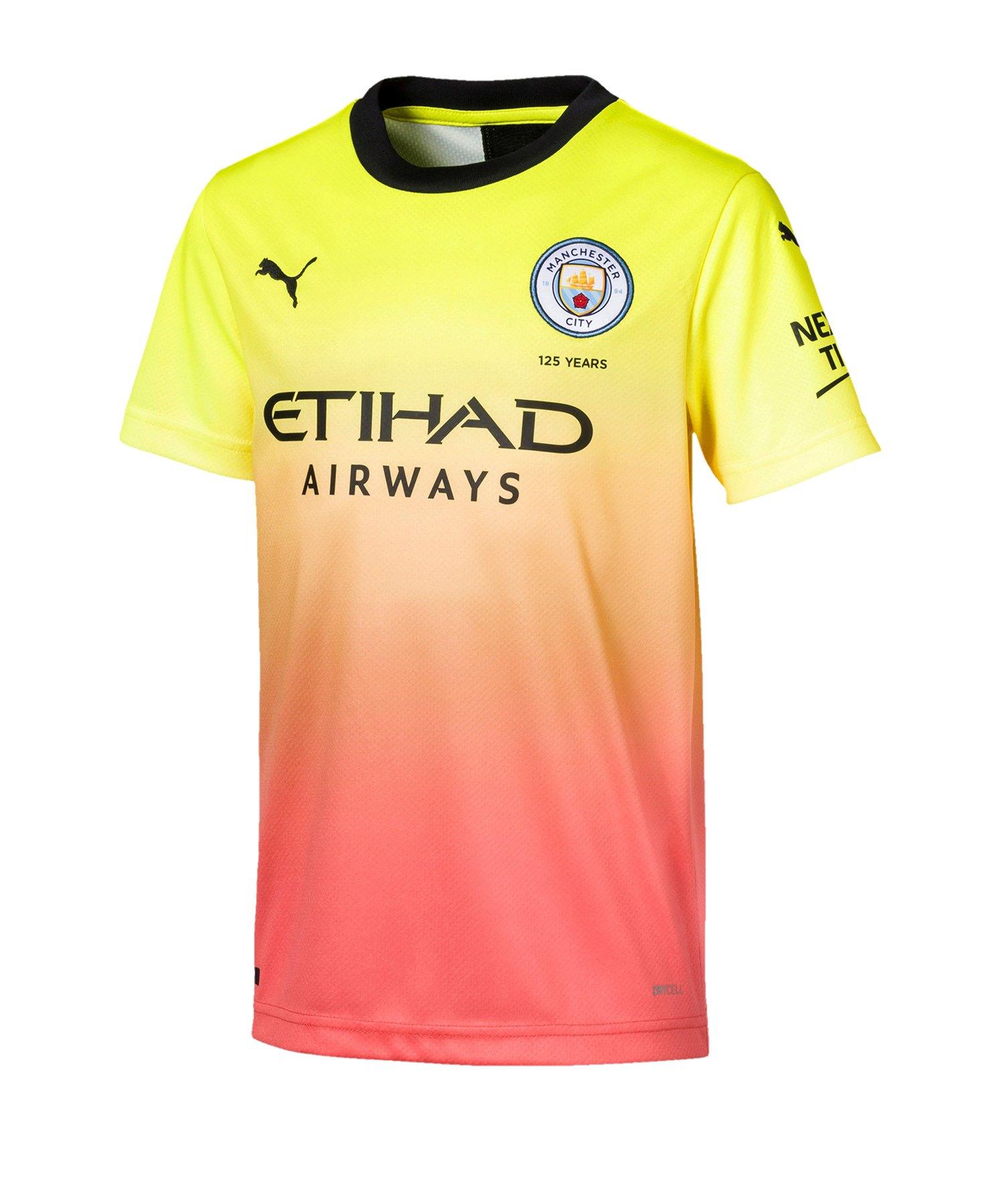 PUMA Manchester City Trikot UCL 2019/2020 Kids Gelb F03 - Gelb