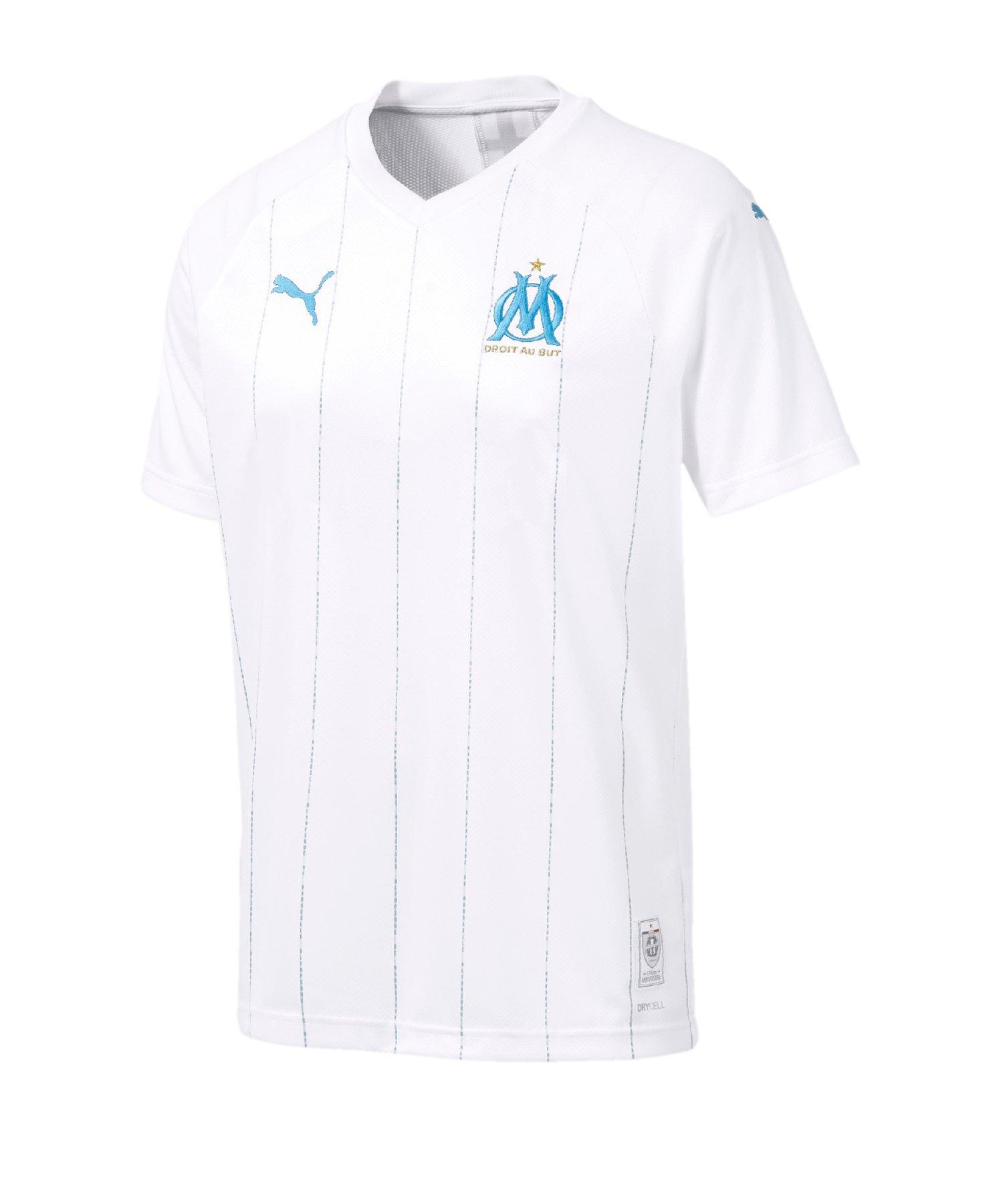PUMA Olympique Marseille Trikot Home 2019/2020 F01 - Weiss