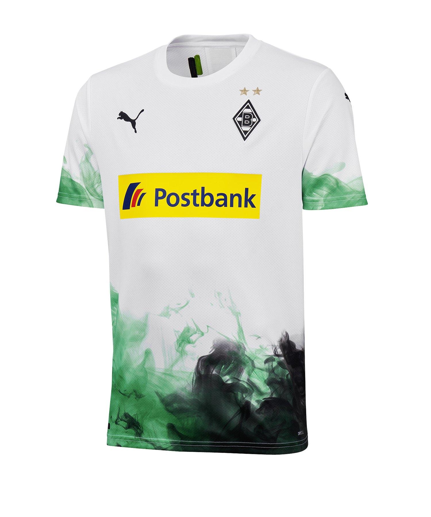 PUMA Borussia Mönchengladbach Trikot Home 2019/2020 Kids Weiss F01 - Weiss