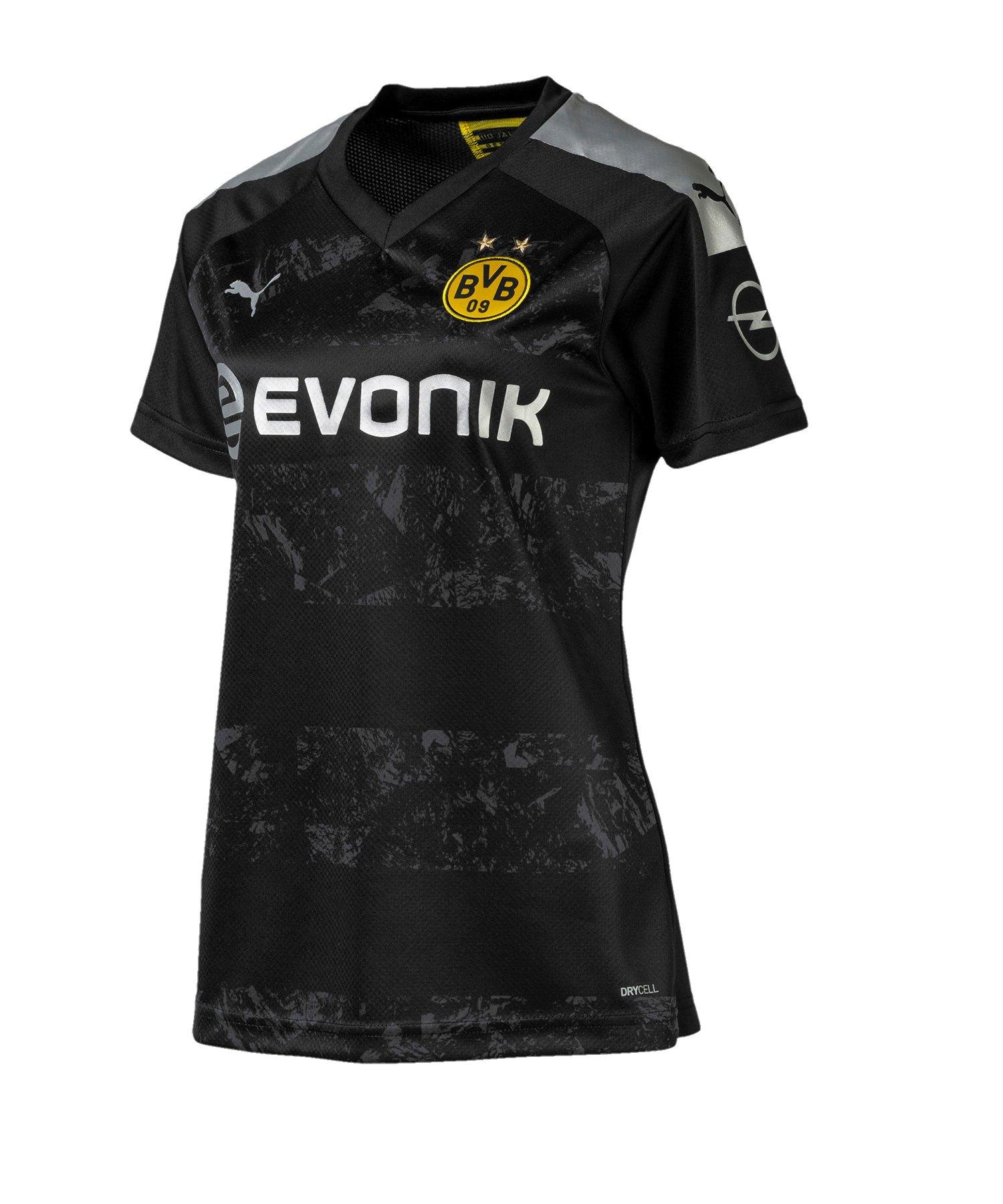 PUMA BVB Dortmund Trikot Away 2019/2020 Damen F12 - Schwarz