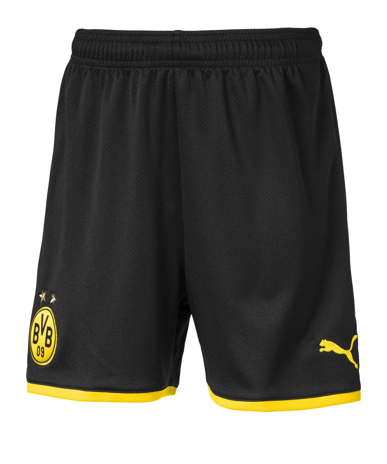 PUMA BVB Dortmund Short Home + UCL 2019/2020 Kids Schwarz F02 - Schwarz