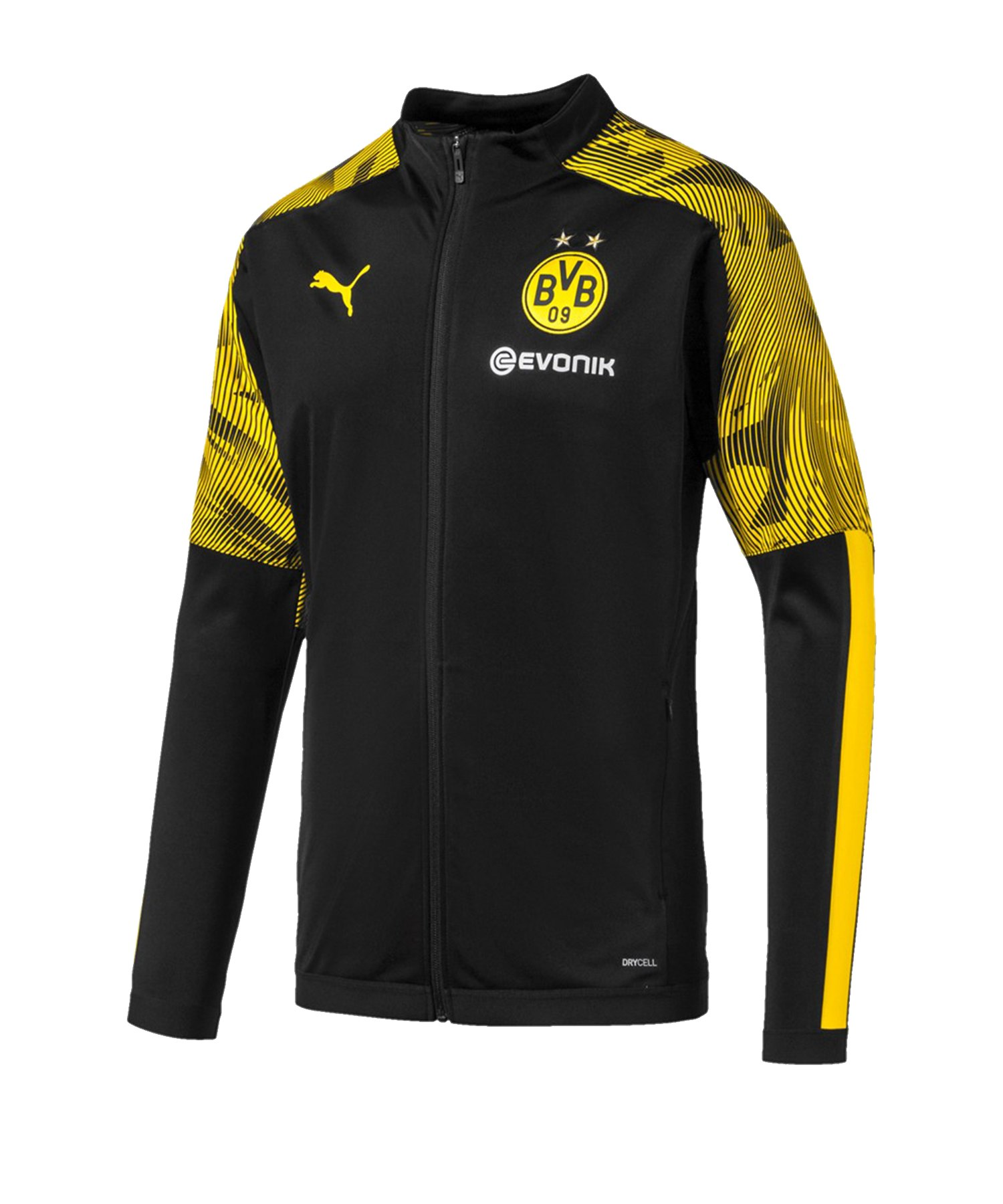 PUMA BVB Dortmund Polyesterjacke Schwarz Gelb F02 - Schwarz