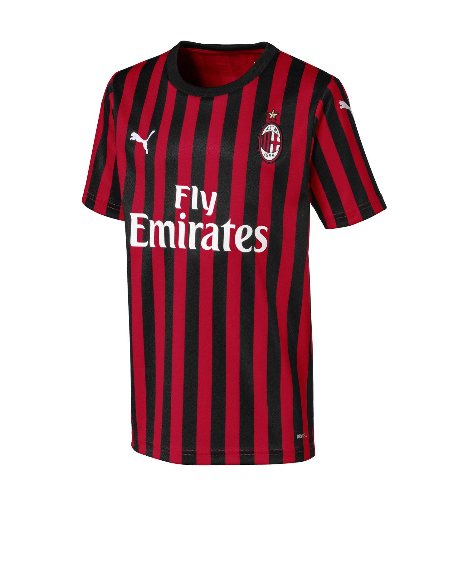 PUMA AC Mailand Trikot Home 2019/2020 Kids Rot F01 - Rot