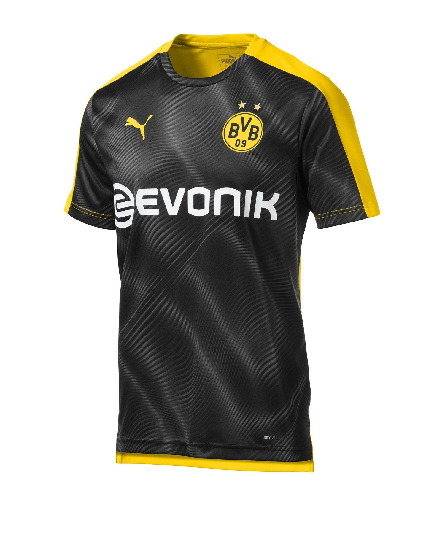 PUMA BVB Dortmund Prematch Shirt Gelb Schwarz F01