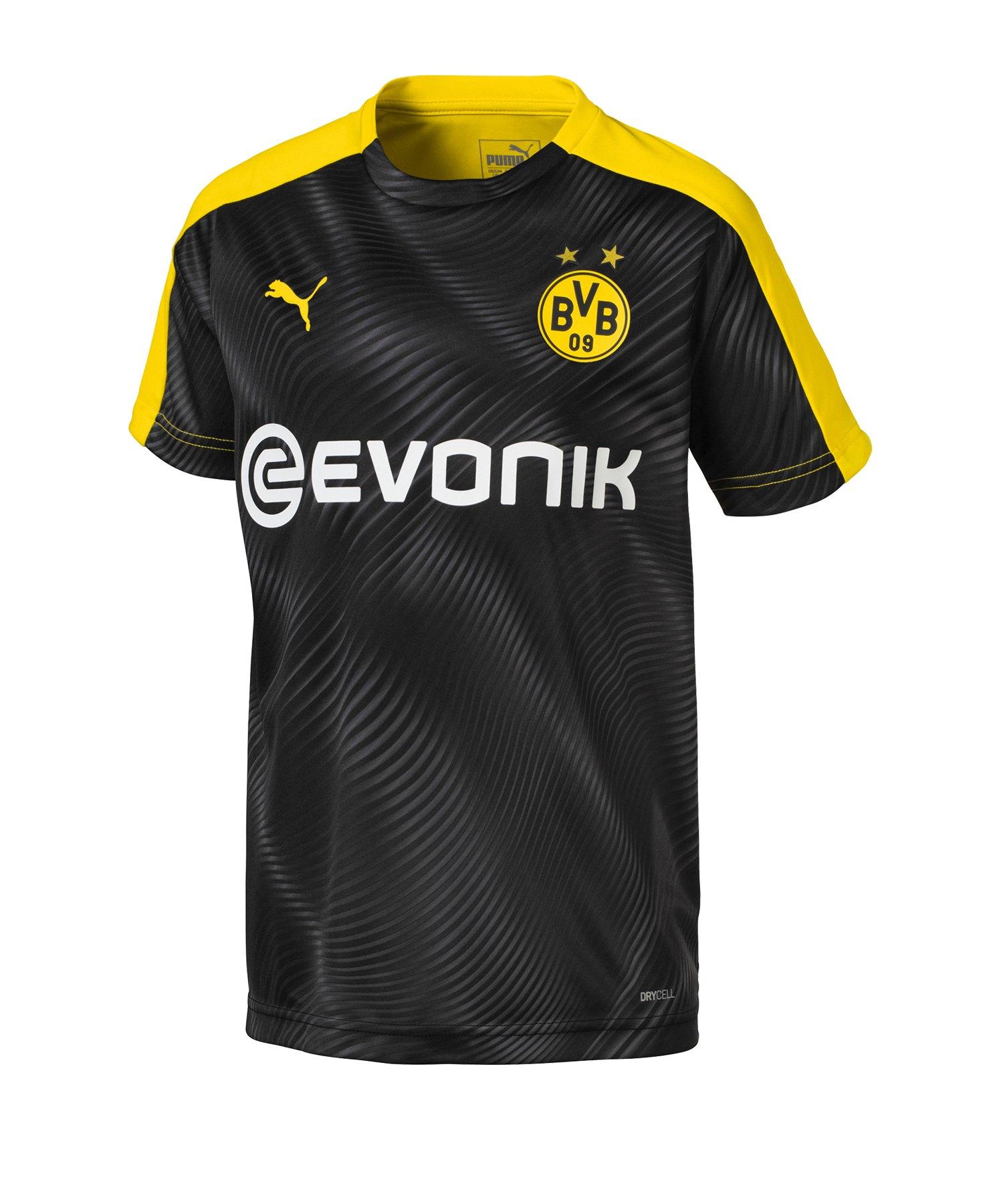 PUMA BVB Dortmund Prematch Shirt Kids Schwarz F01 - Schwarz