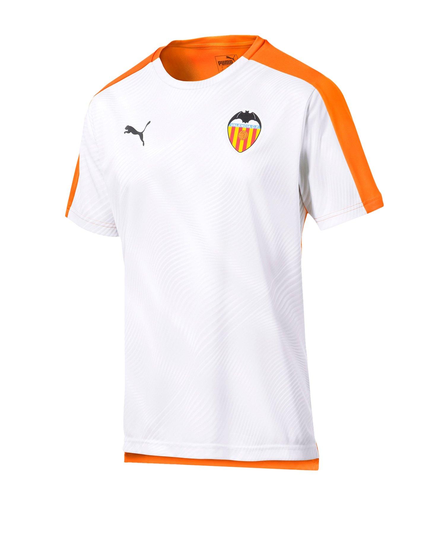 PUMA FC Valencia Prematch Shirt Orange Weiss F01 - Orange