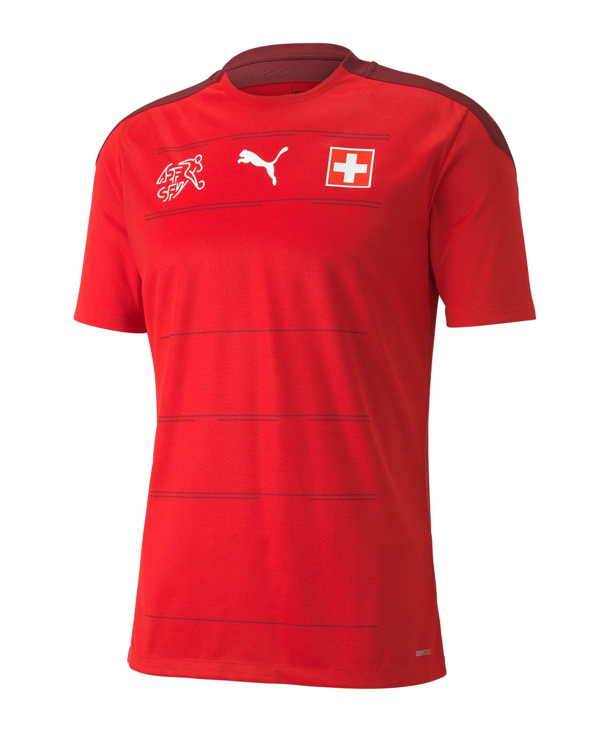PUMA Schweiz Trikot Home EM 2021 Rot F01 - rot