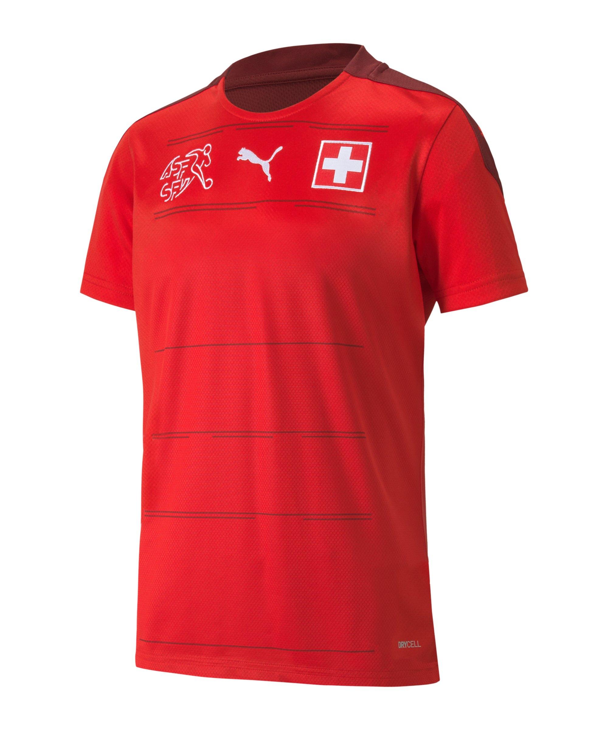 PUMA Schweiz Trikot Home EM 2021 Kids Rot F01 - rot