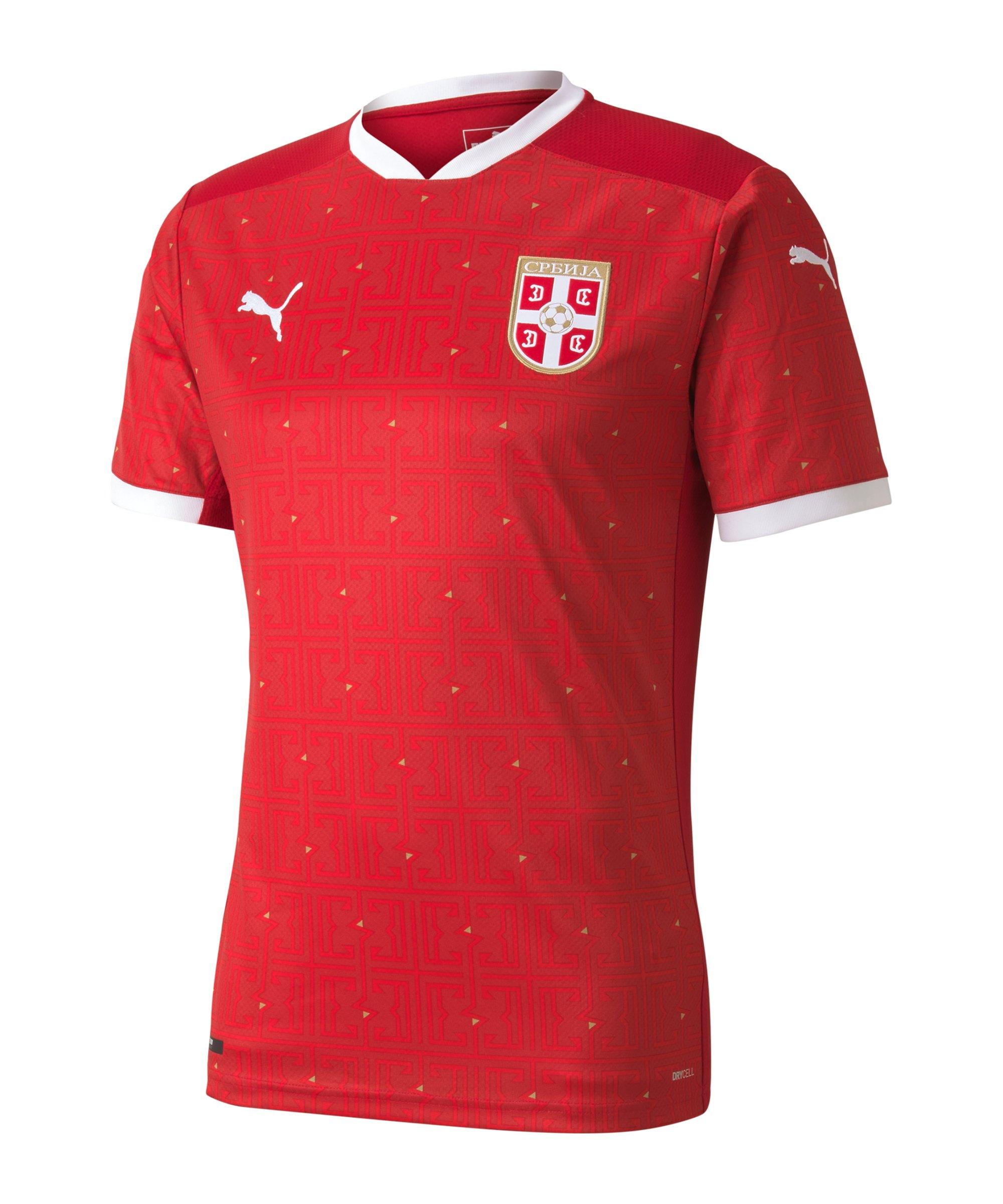 PUMA Serbien Trikot Home EM 2021 Rot F01 - rot