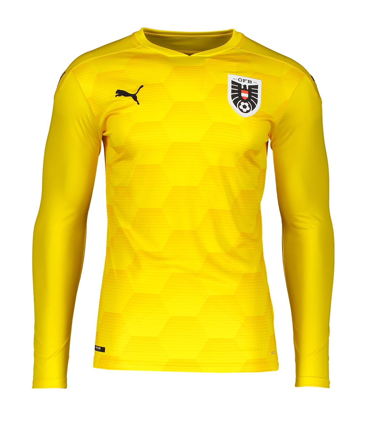 PUMA Österreich Torwarttrikot EM 2020 Gelb F06 - gelb