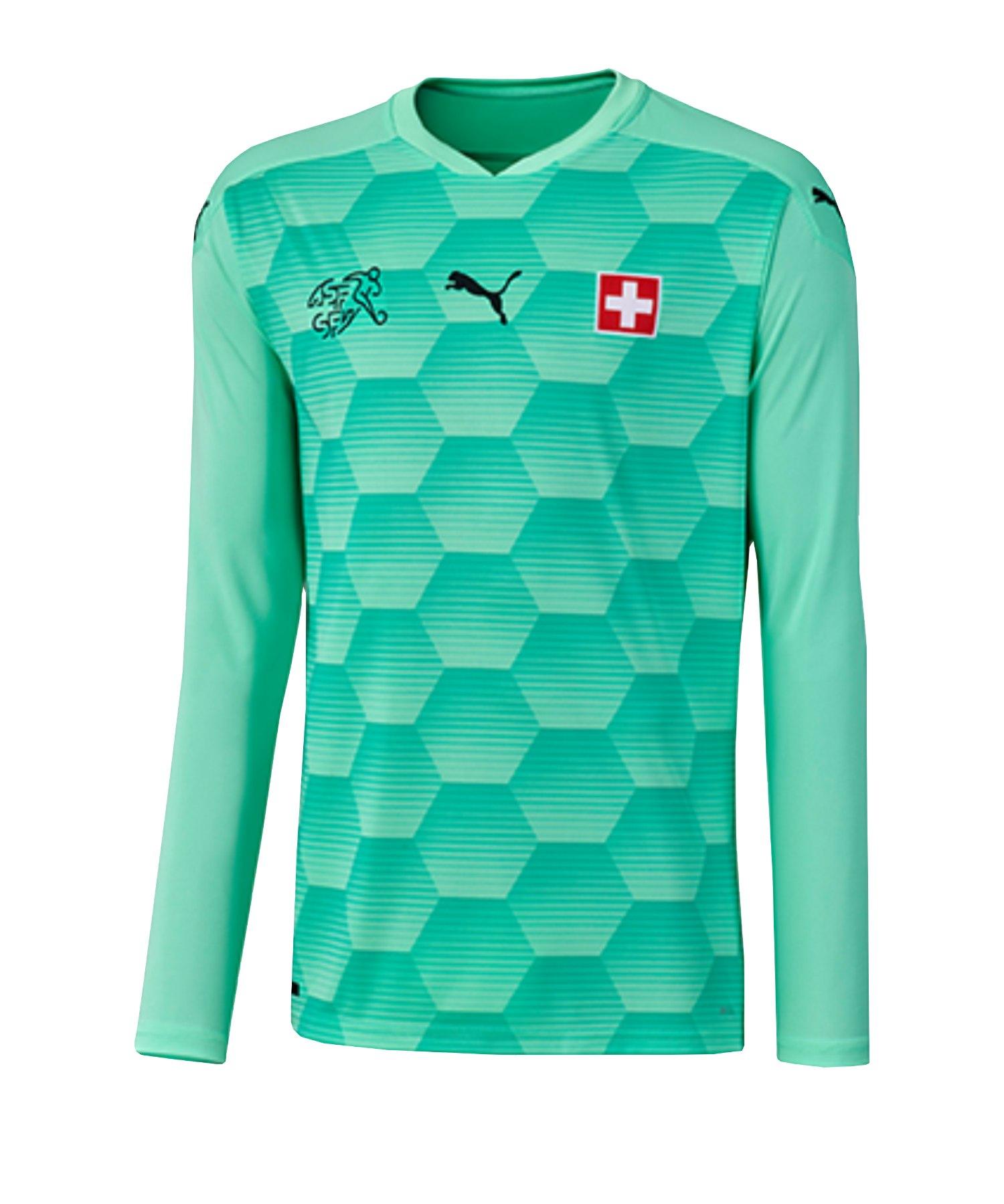 PUMA Schweiz Torwarttrikot EM 2020 Grün F04 - grün