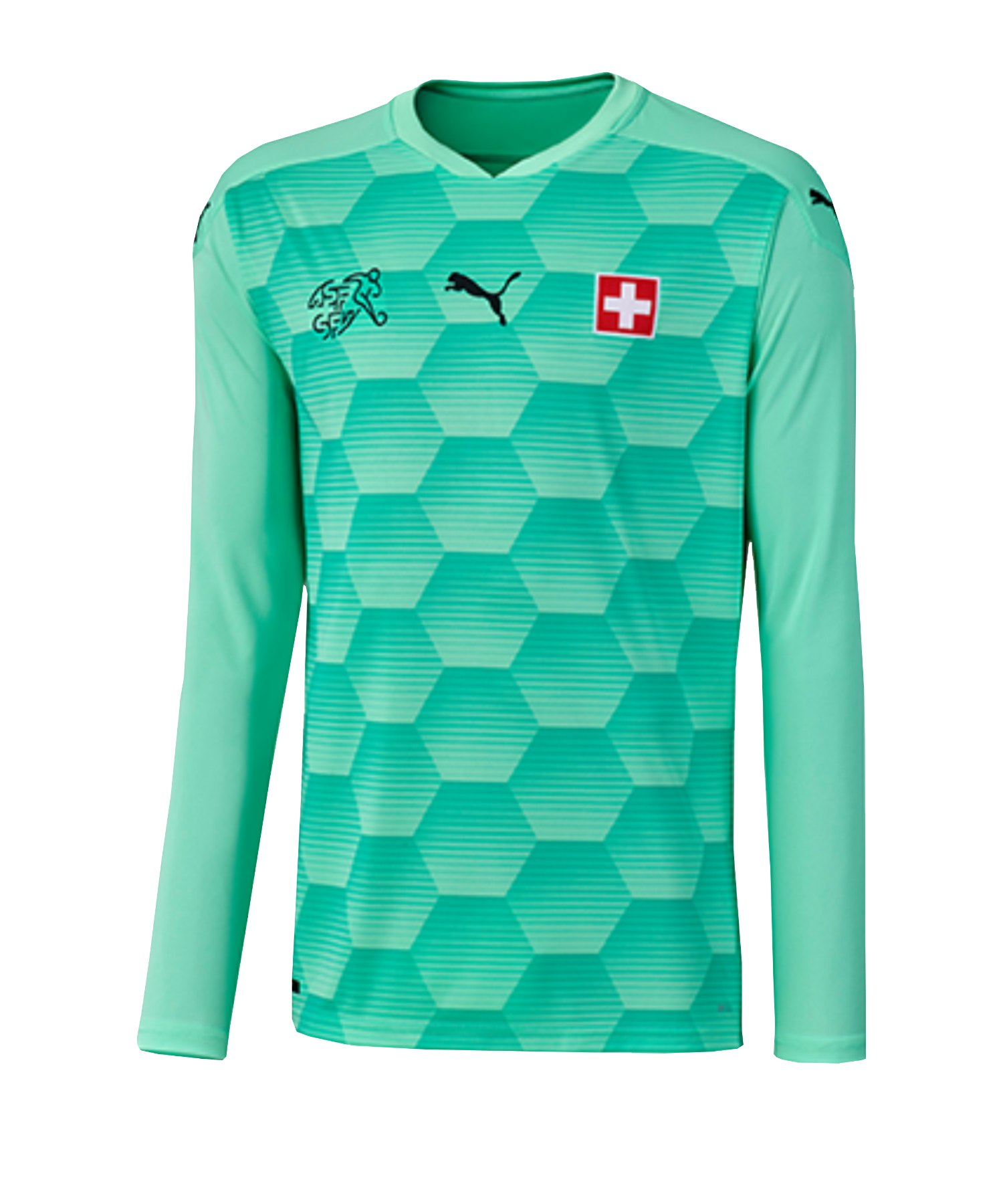 PUMA Schweiz Torwarttrikot EM 2020 Kids Grün F04 - grün