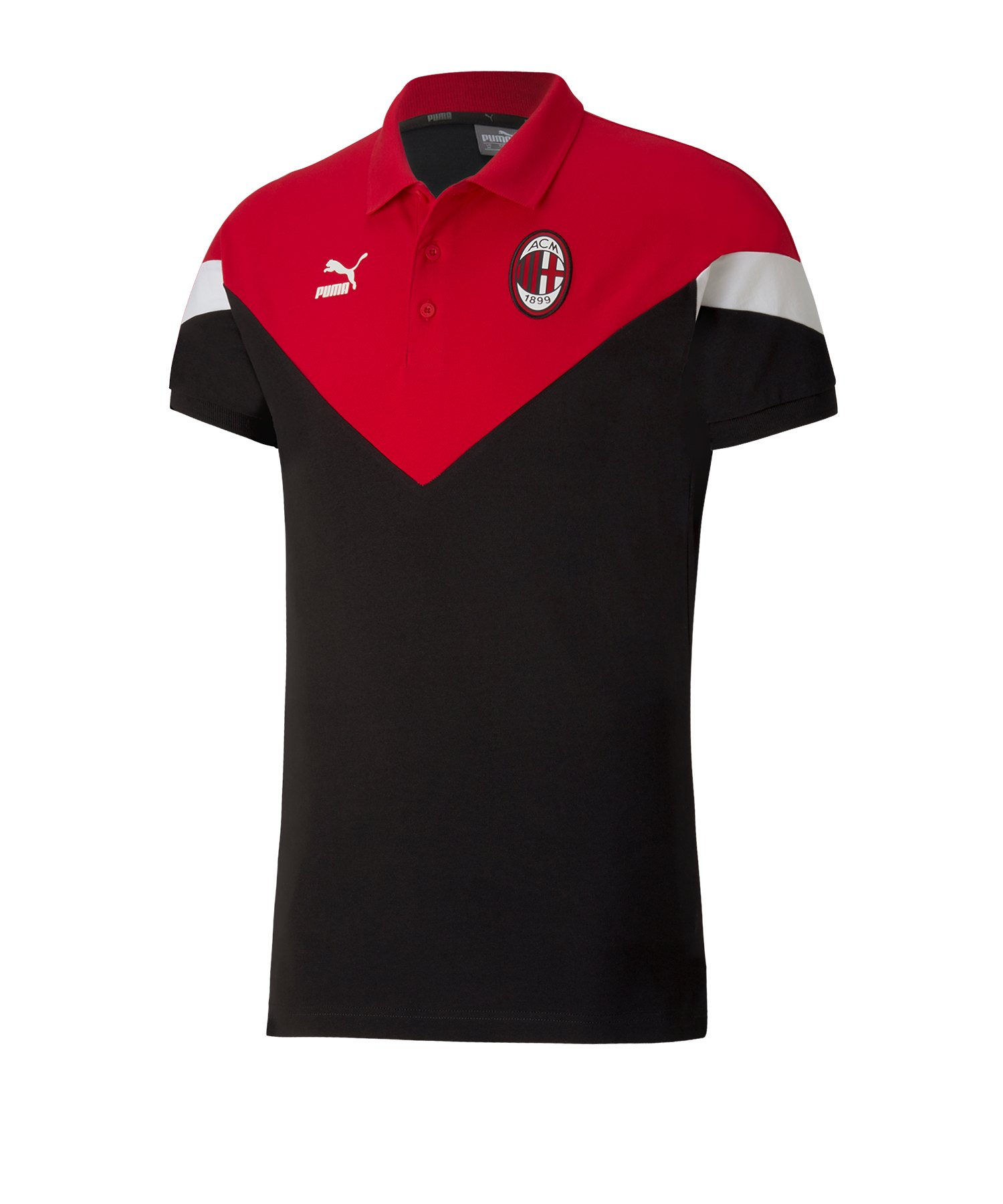 PUMA AC Mailand Iconic MCS Poloshirt Schwarz F01 - schwarz