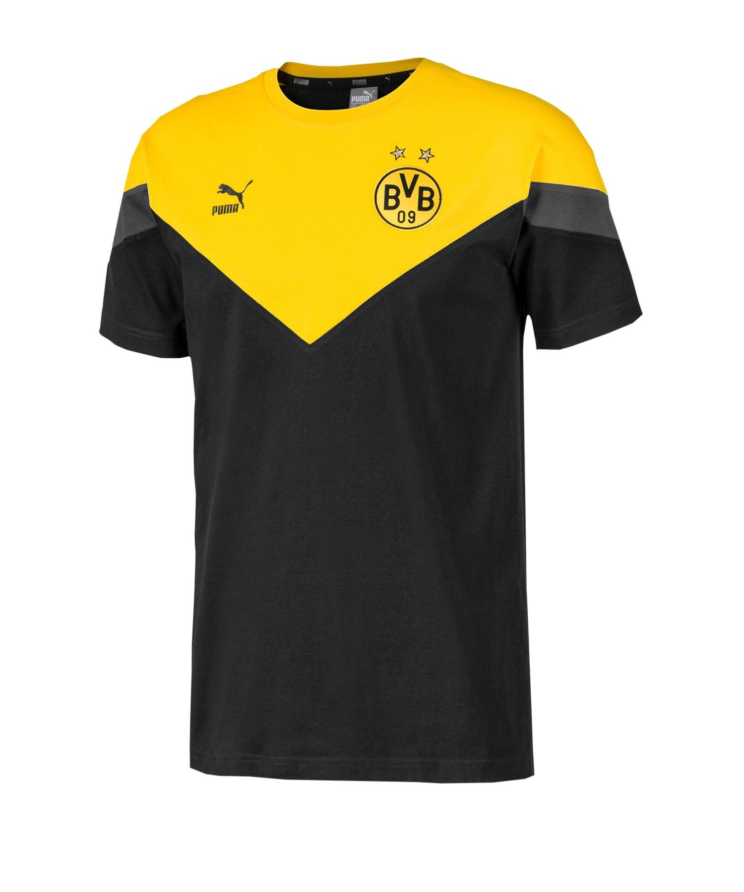 PUMA BVB Dortmund Iconic MCS Tee T-Shirt F01 - schwarz