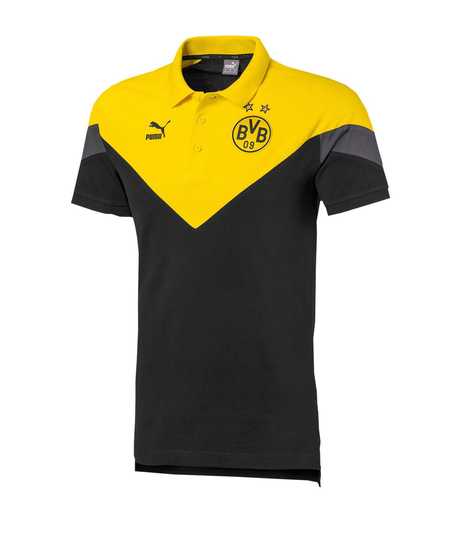 PUMA BVB Dortmund Iconic MCS Poloshirt Schwarz F01 - schwarz