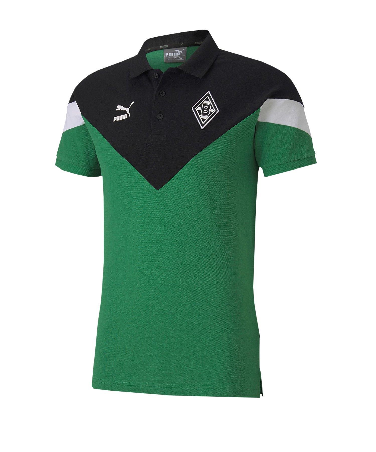 PUMA Borussia Mönchengladbach Poloshirt Grün F01 - grün