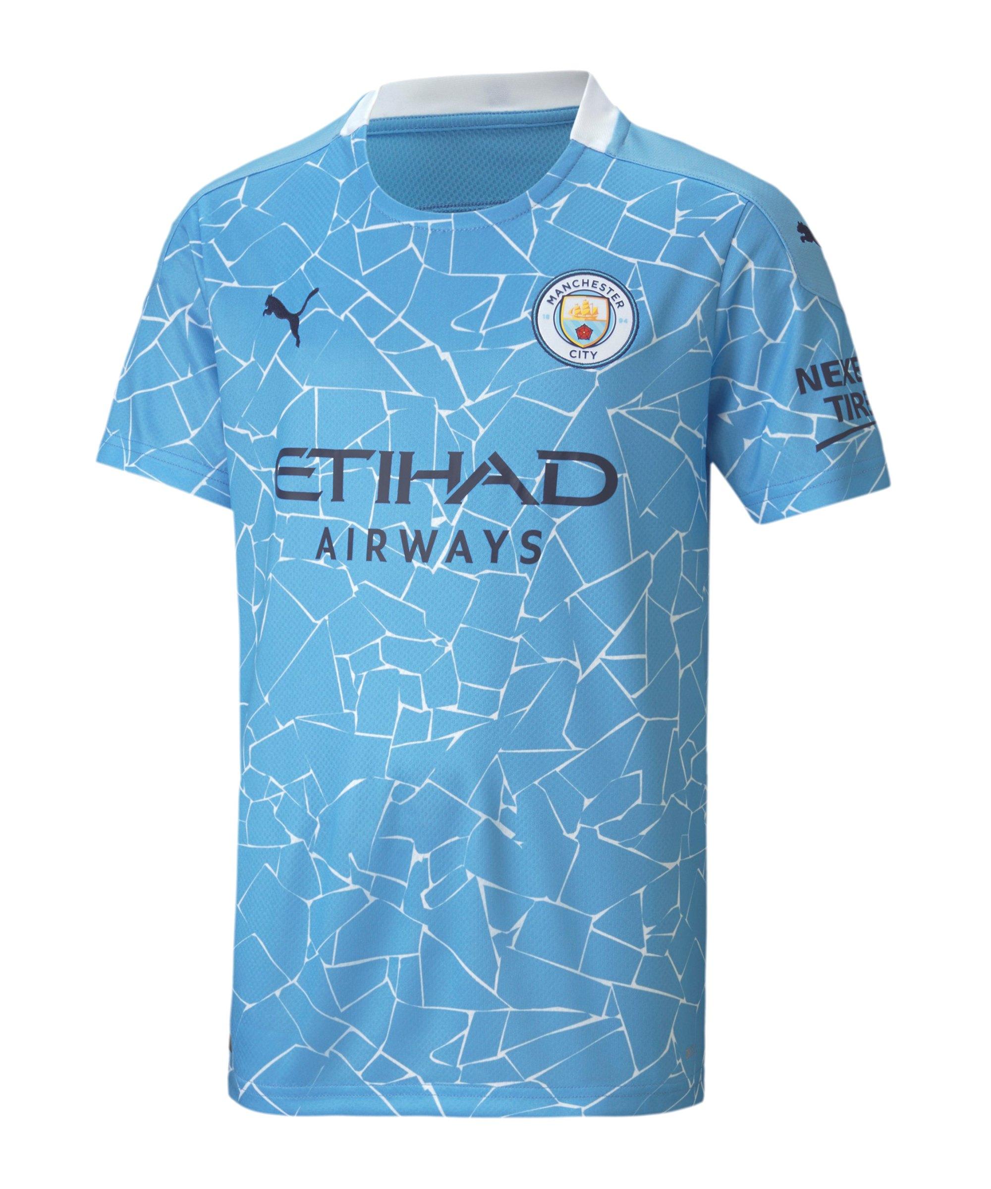 Manchester City Trikot Home 2020/2021 Kids Blau F01 - blau