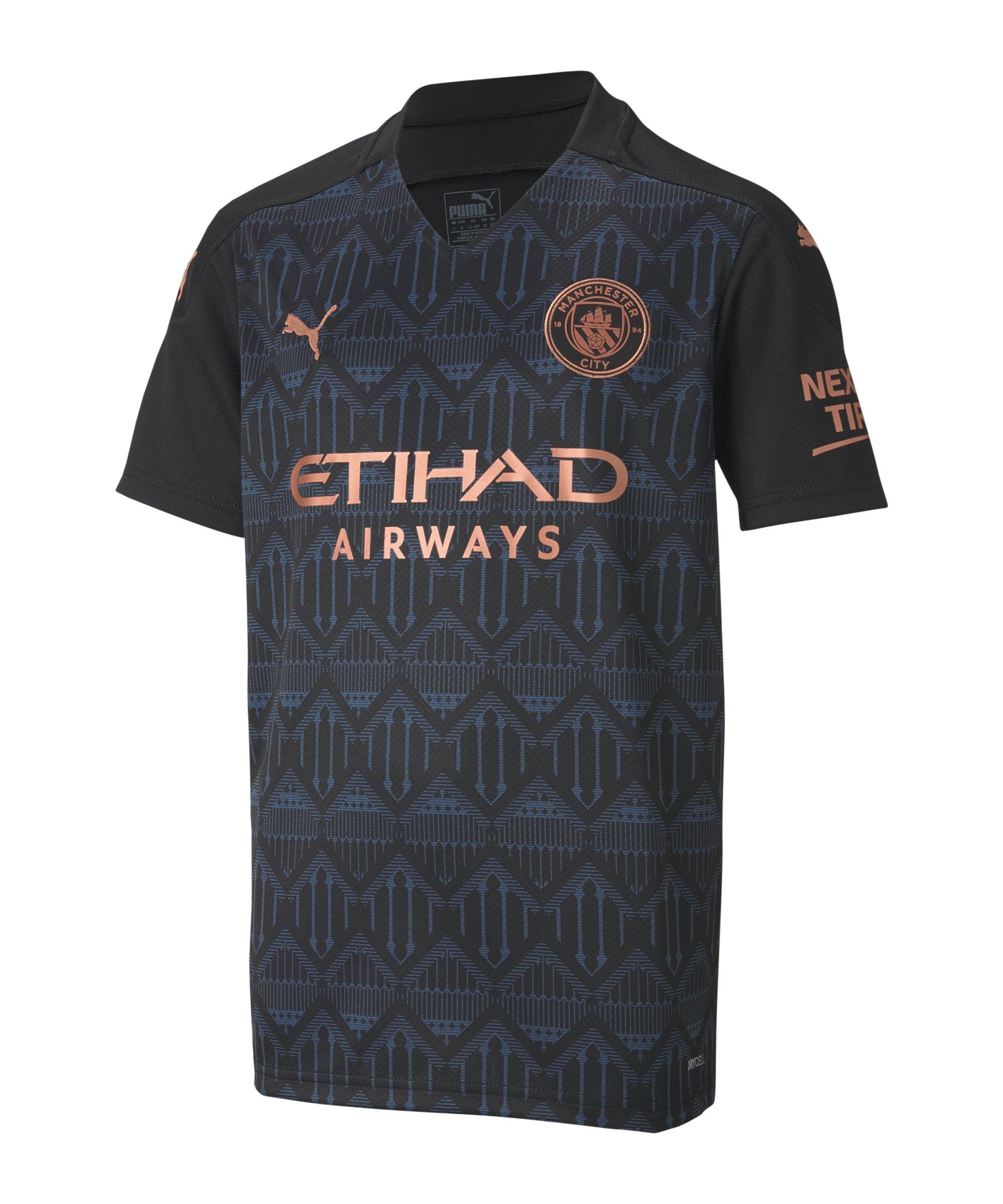 Manchester City Trikot Away 2020/2021 Kids Schwarz F02 - schwarz