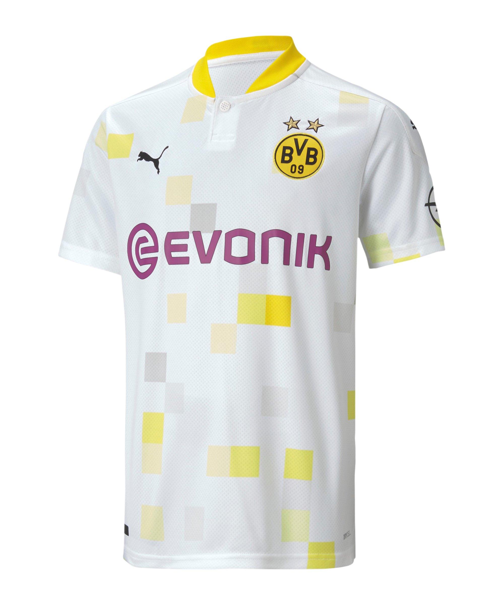 BVB Dortmund Trikot UCL 2020/2021 Kids Weiss F03 - weiss