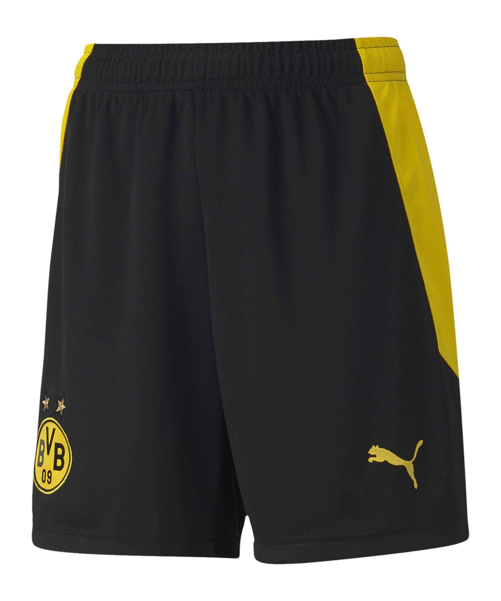 PUMA BVB Dortmund Short Home 2020/2021 Kids Schwarz F02 - schwarz
