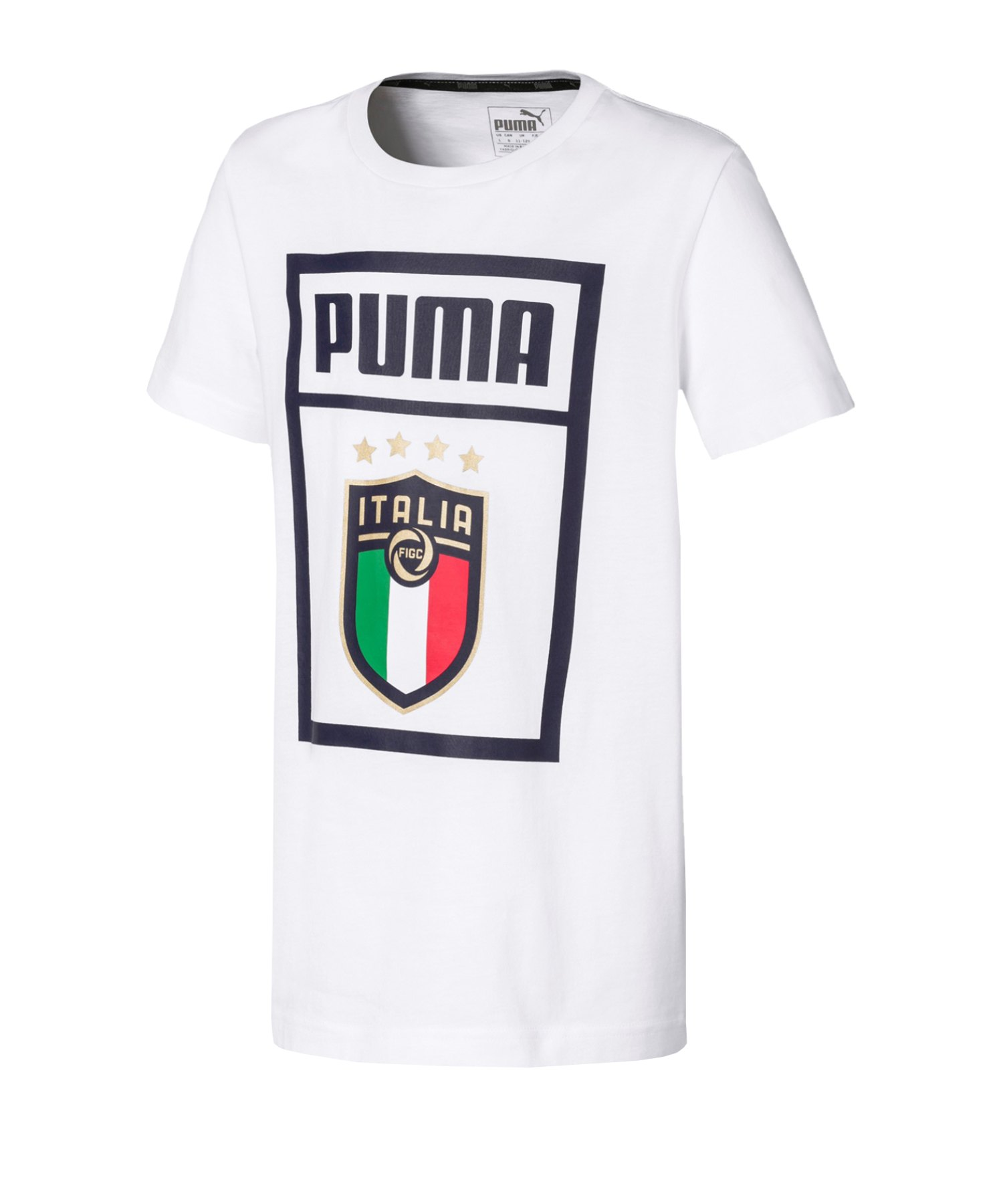 PUMA Italien DNA T-Shirt Kids Weiss F17 - weiss