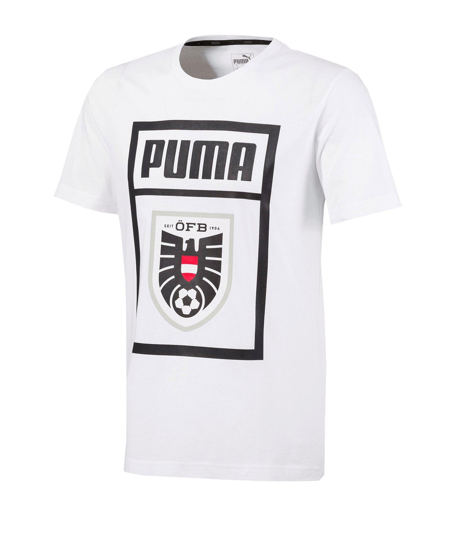 PUMA Österreich DNA Tee T-Shirt Weiss F02 - weiss