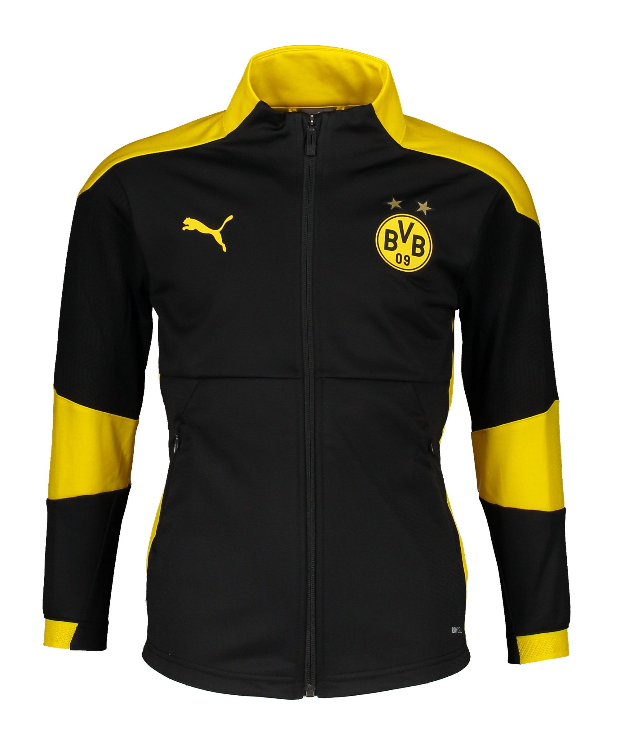 PUMA BVB Dortmund Trainingsjacke Kids Schwarz F02 - schwarz
