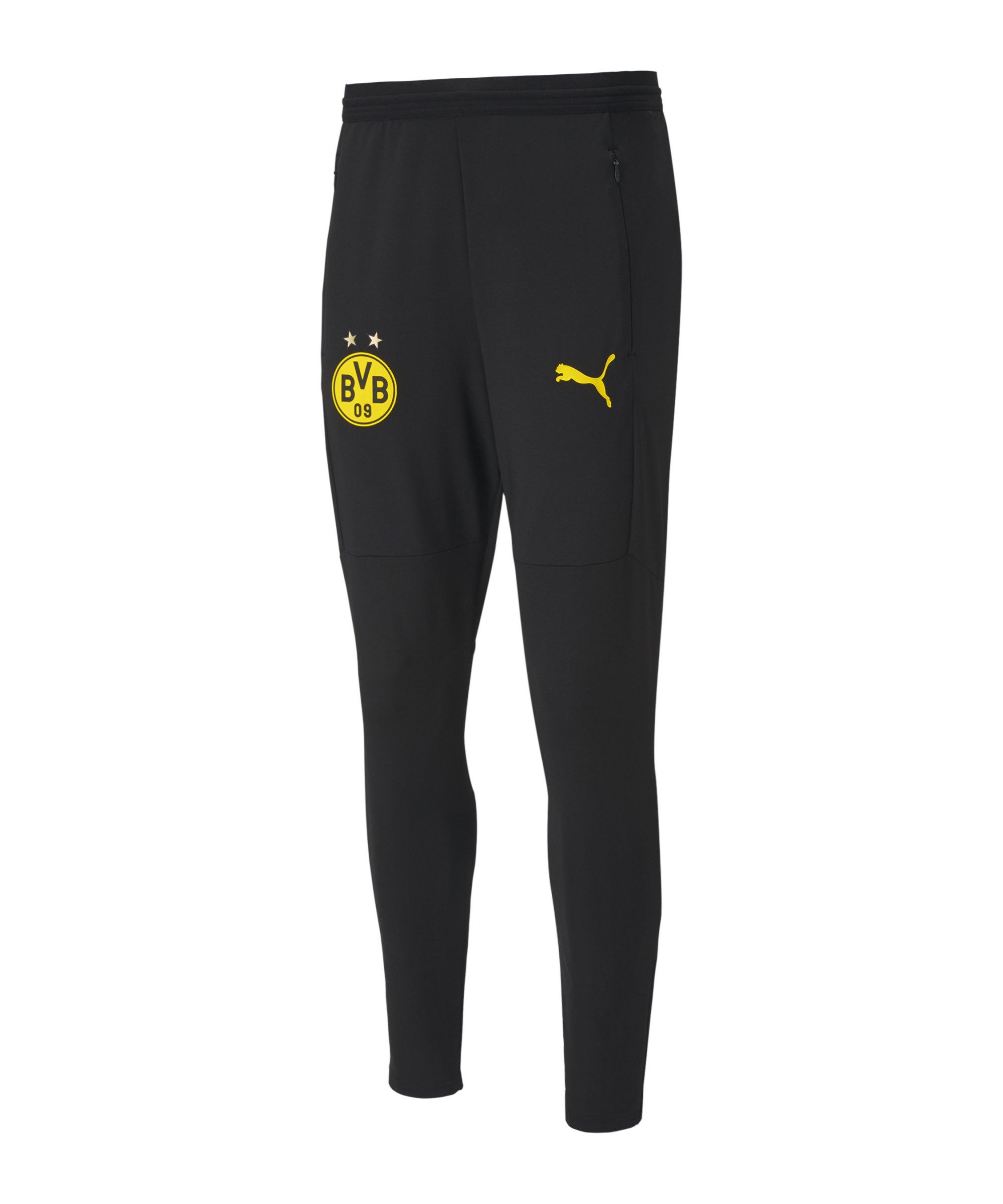 PUMA BVB Dortmund Trainingshose Schwarz F02 - schwarz