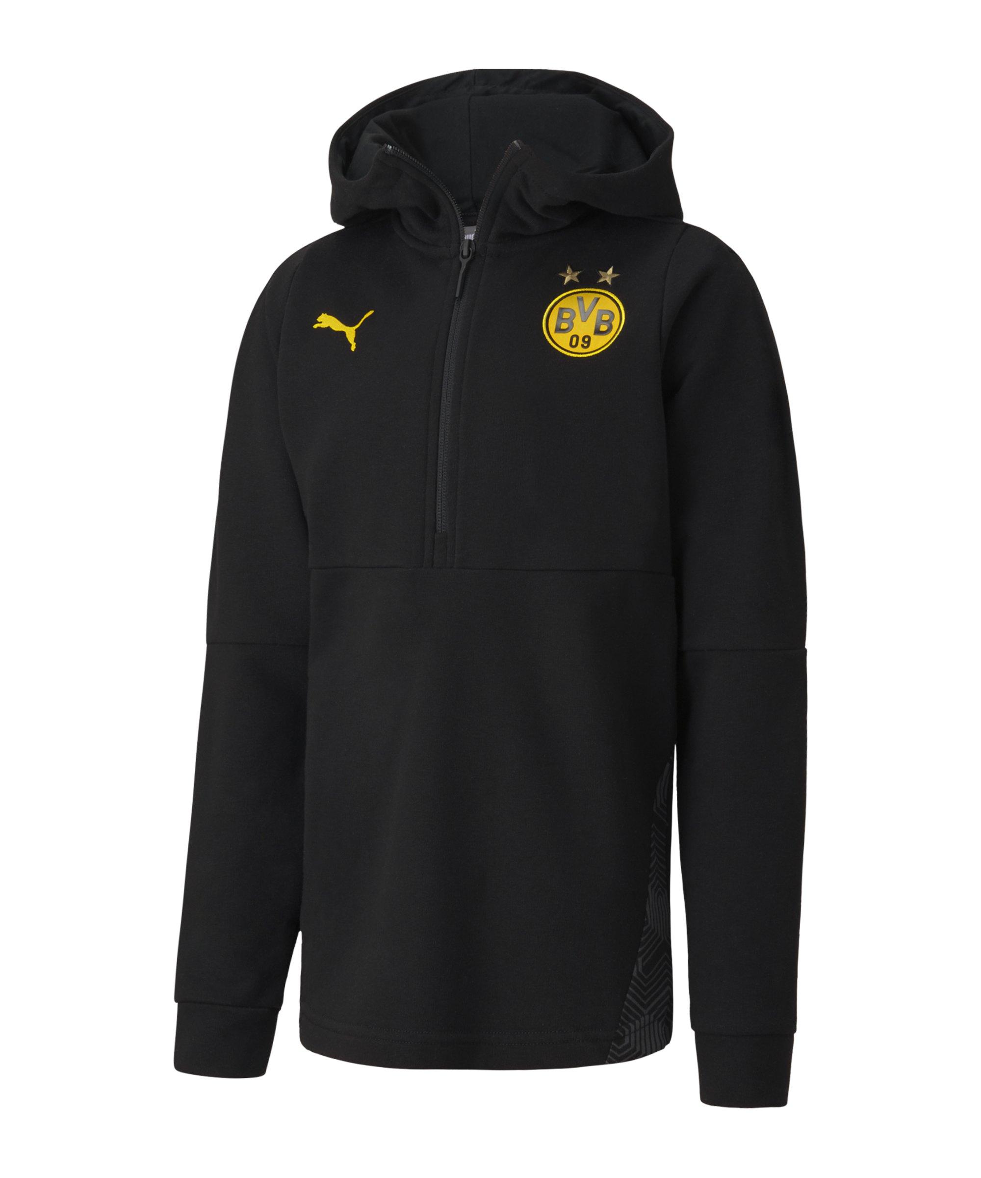 BVB Dortmund Casuals Kapuzensweatshirt Kids Schwarz F02 - schwarz