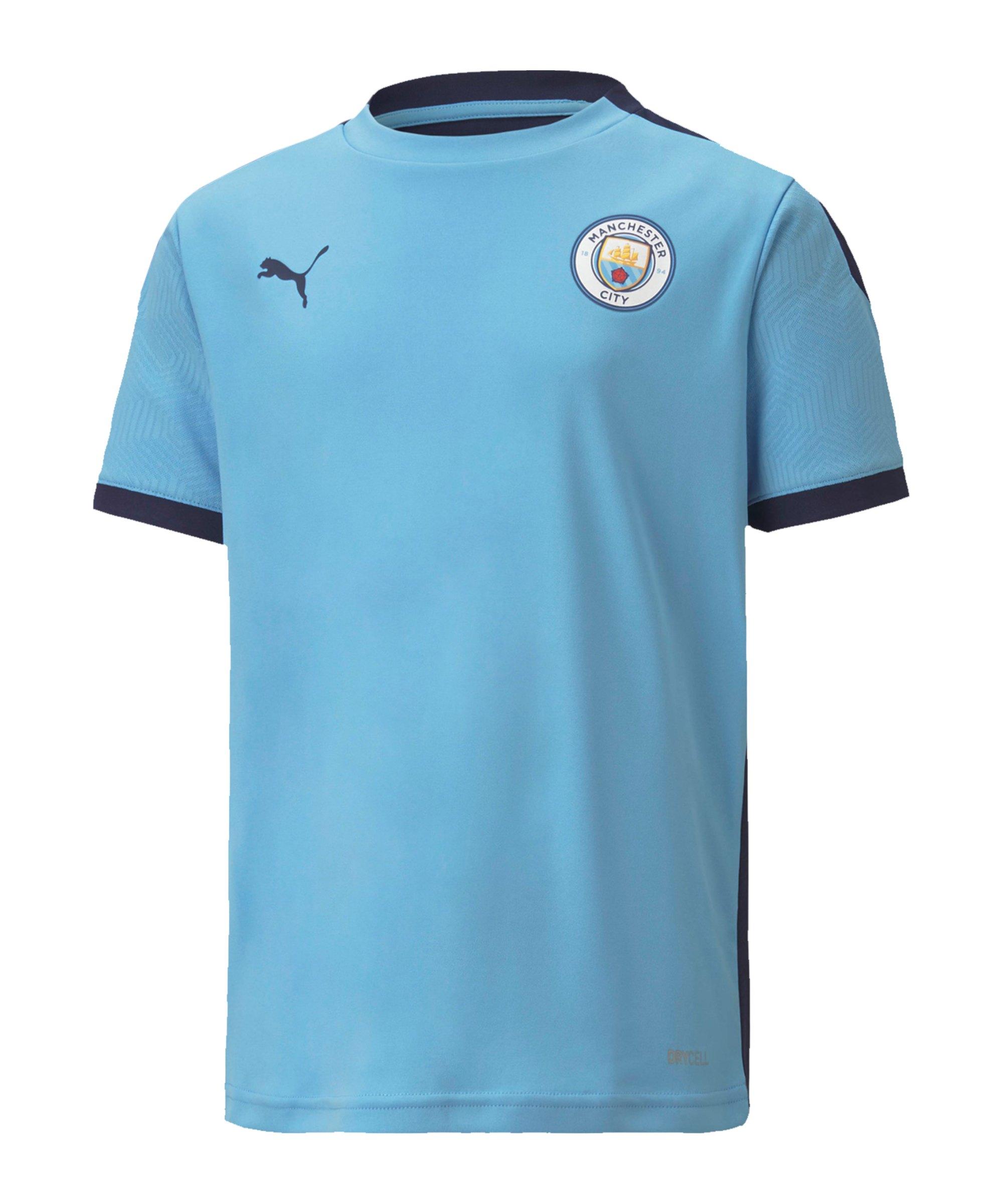 PUMA Manchester City Trainingstrikot Kids Blau F01 - blau