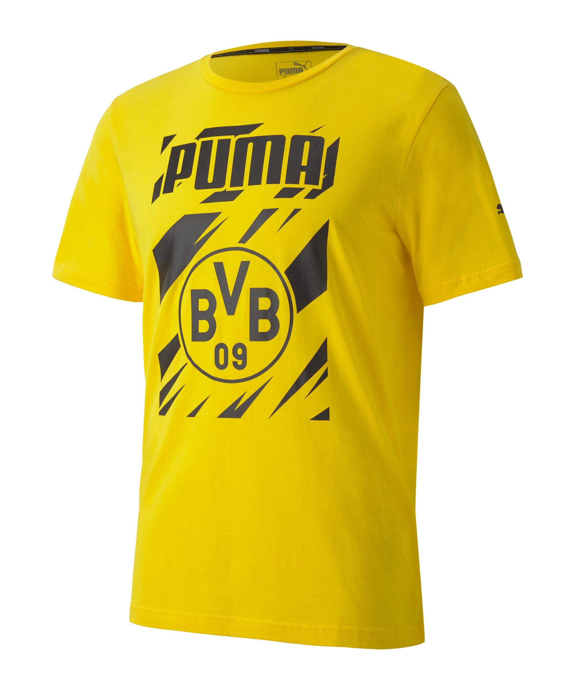 PUMA BVB Dortmund ftblCore Graphic T-Shirt Gelb F01 - gelb