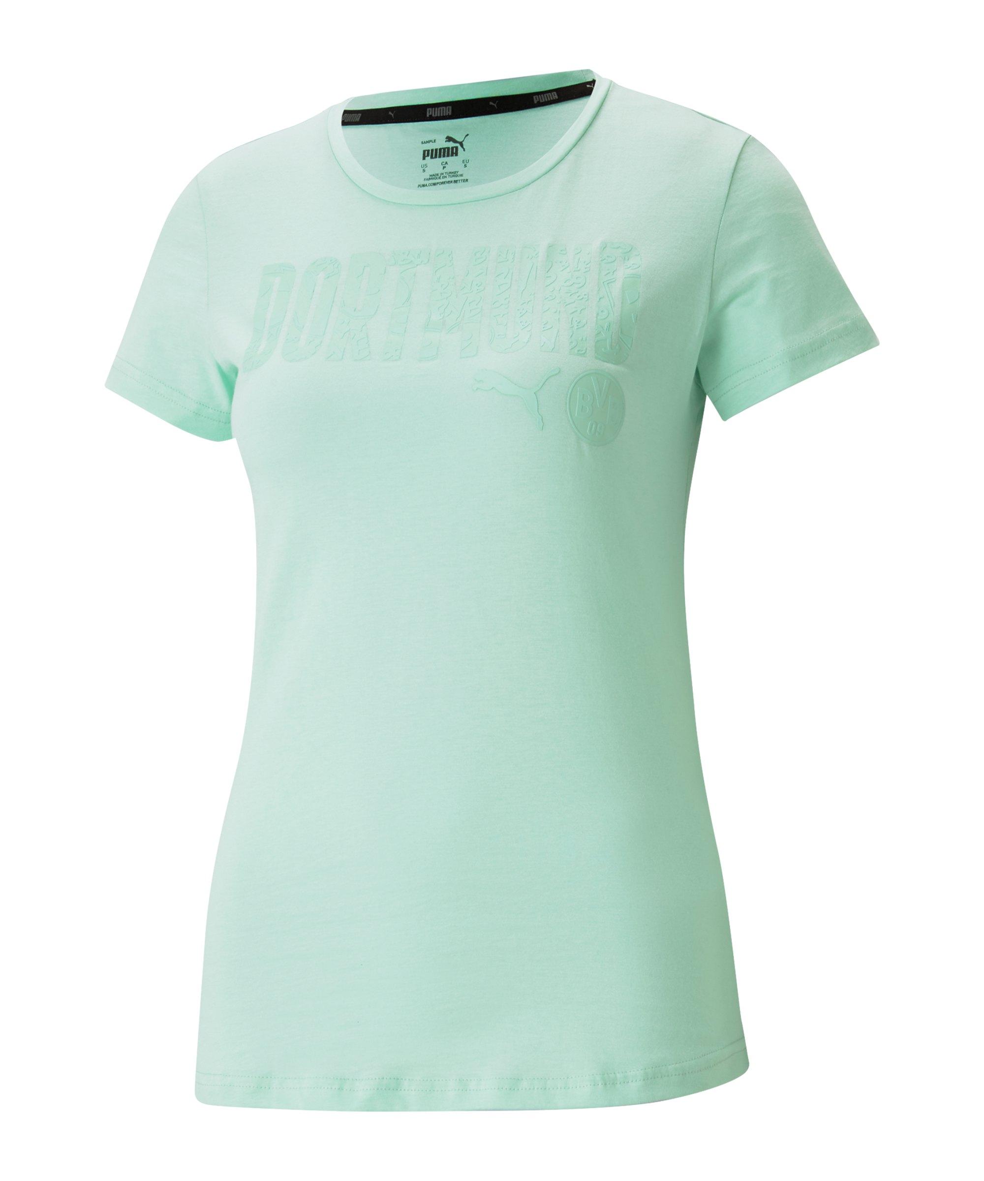 PUMA BVB Dortmund ftblCore T-Shirt Damen Grün F07 - gruen