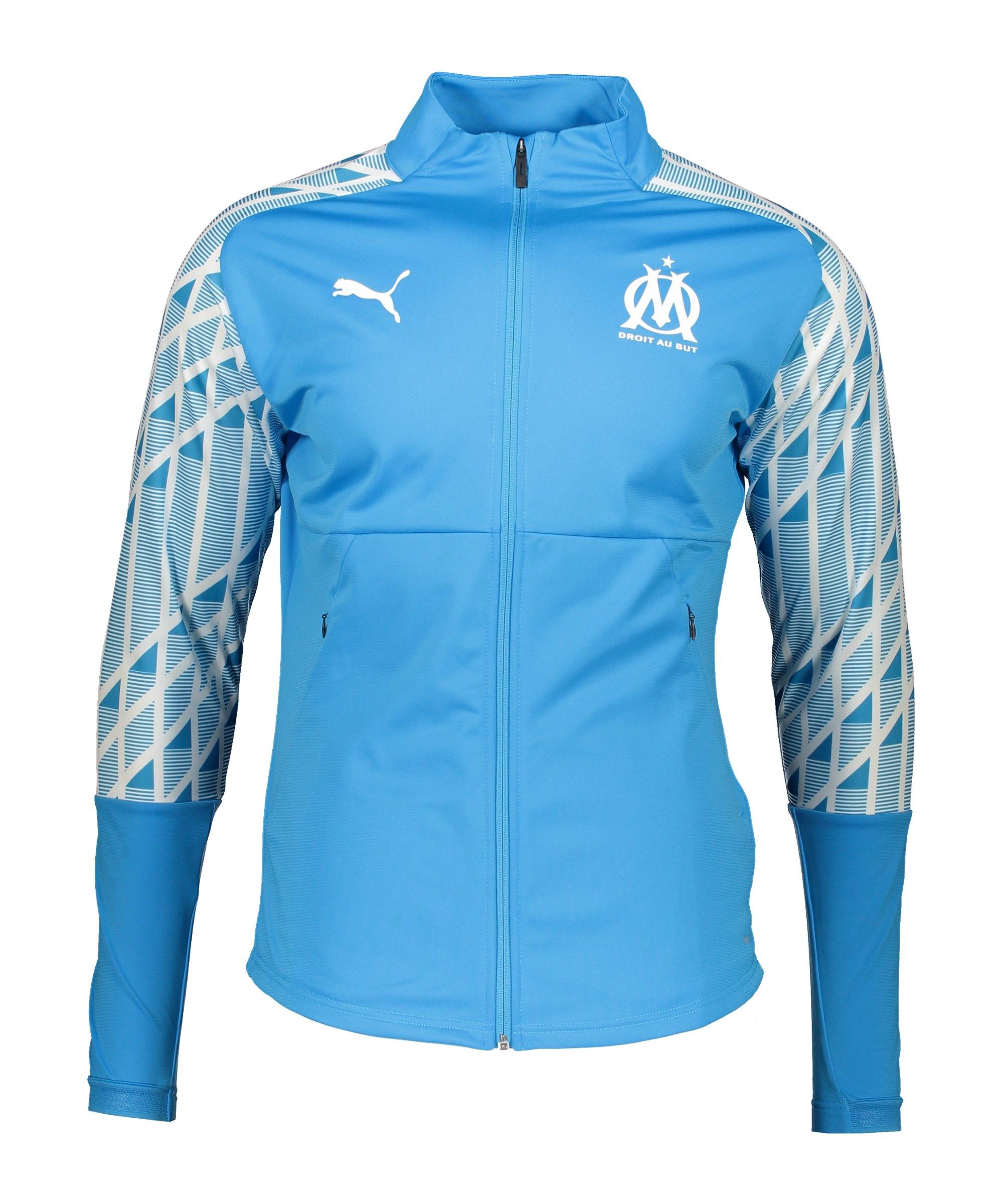PUMA Olympique Marseille Stadium Jacke Blau F11 - blau