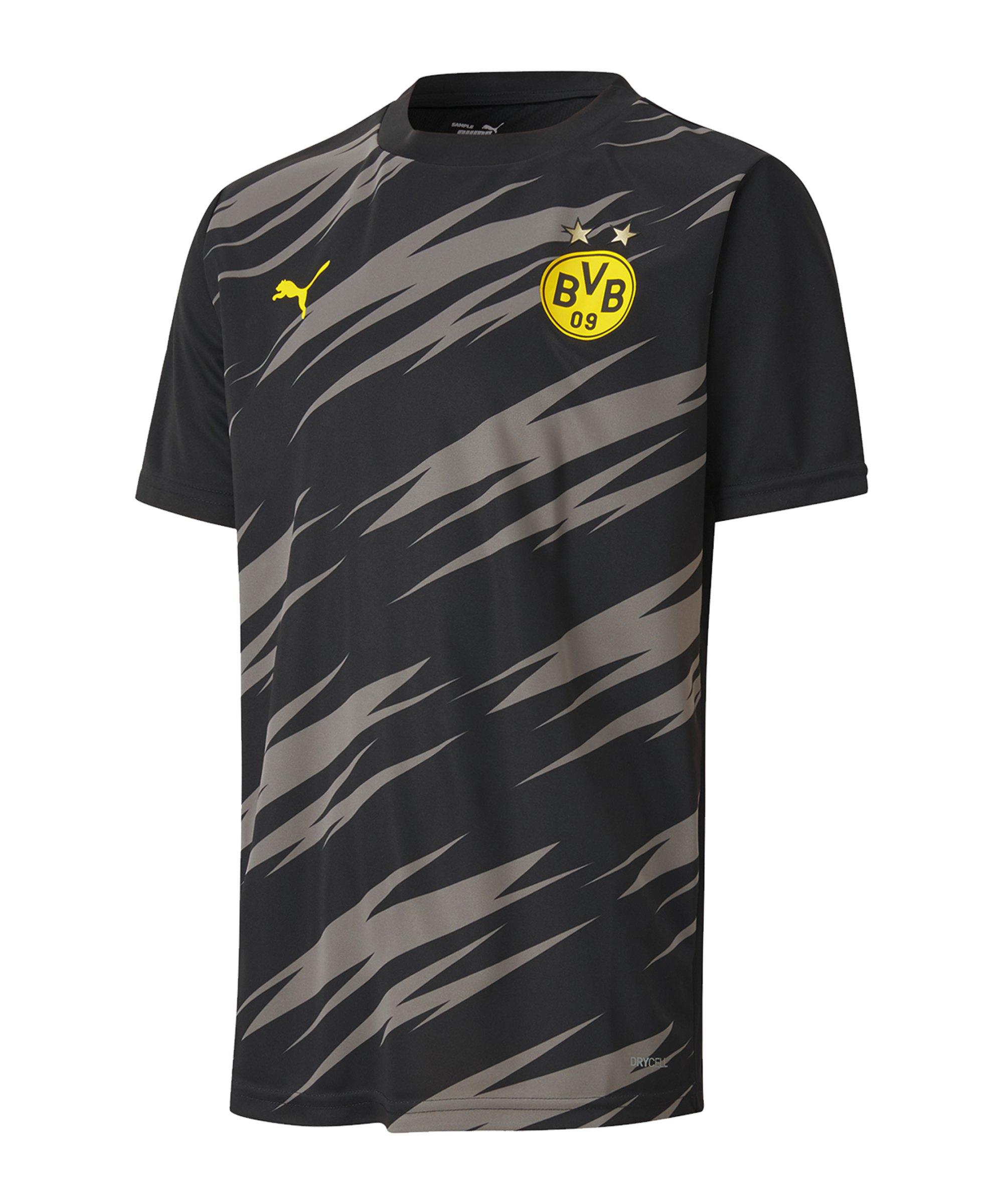 PUMA BVB Dortmund Stadium T-Shirt Kids Schwarz F02 - schwarz
