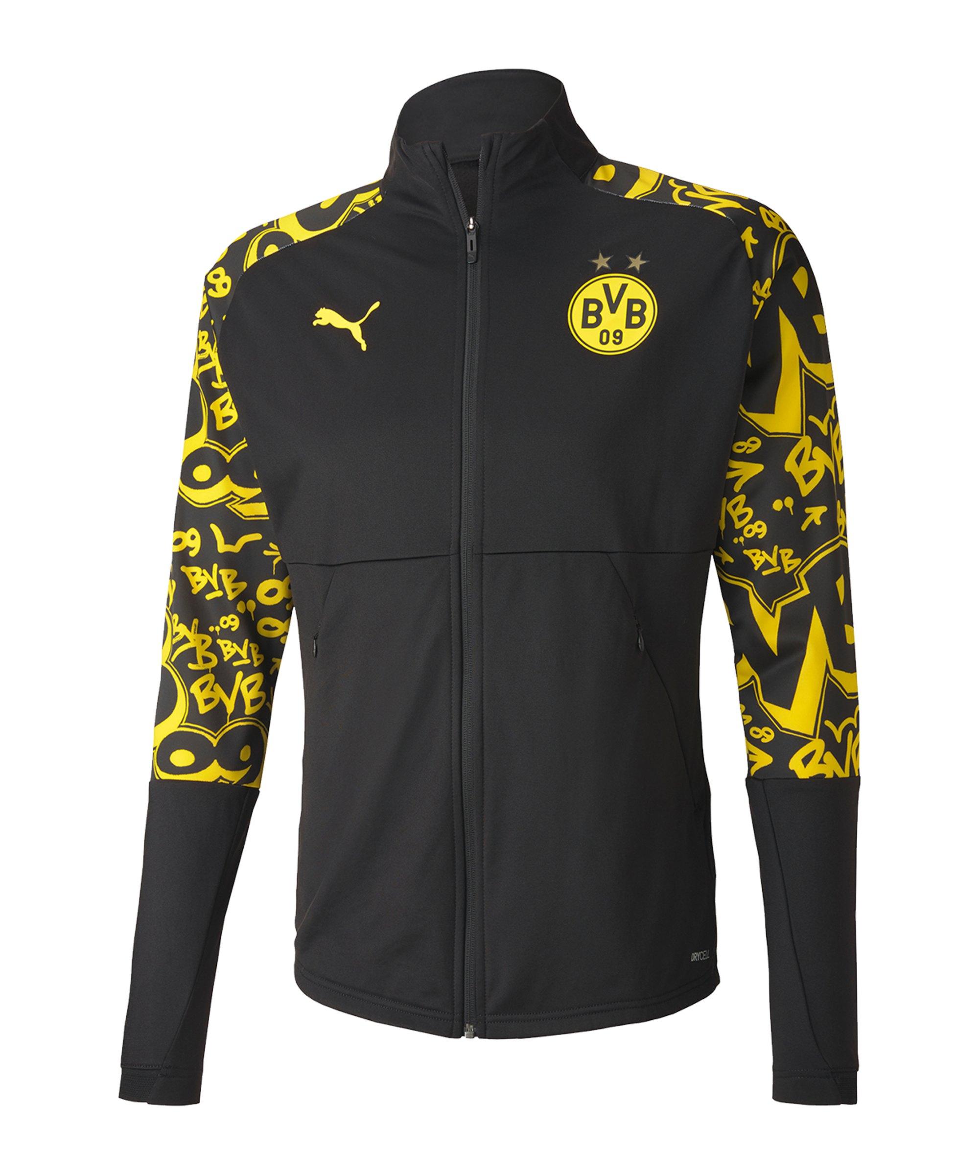 PUMA BVB Dortmund Stadium Jacke Schwarz F05 - schwarz