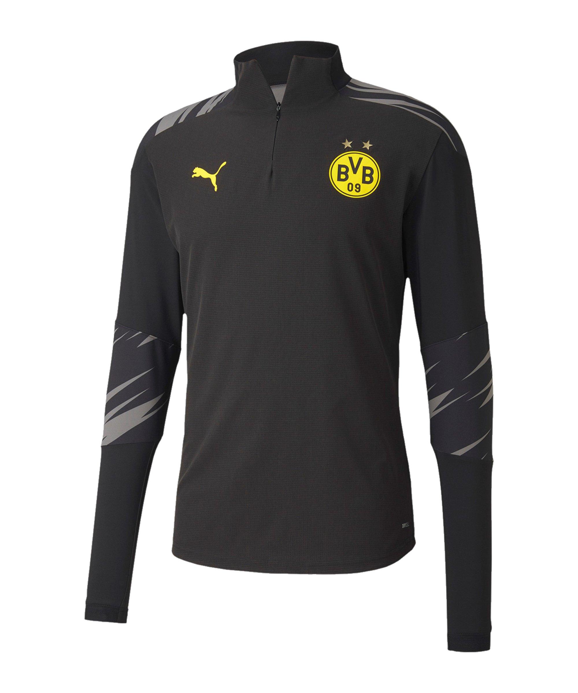 PUMA BVB Dortmund Stadium 1/4 Ziptop Schwarz F02 - schwarz
