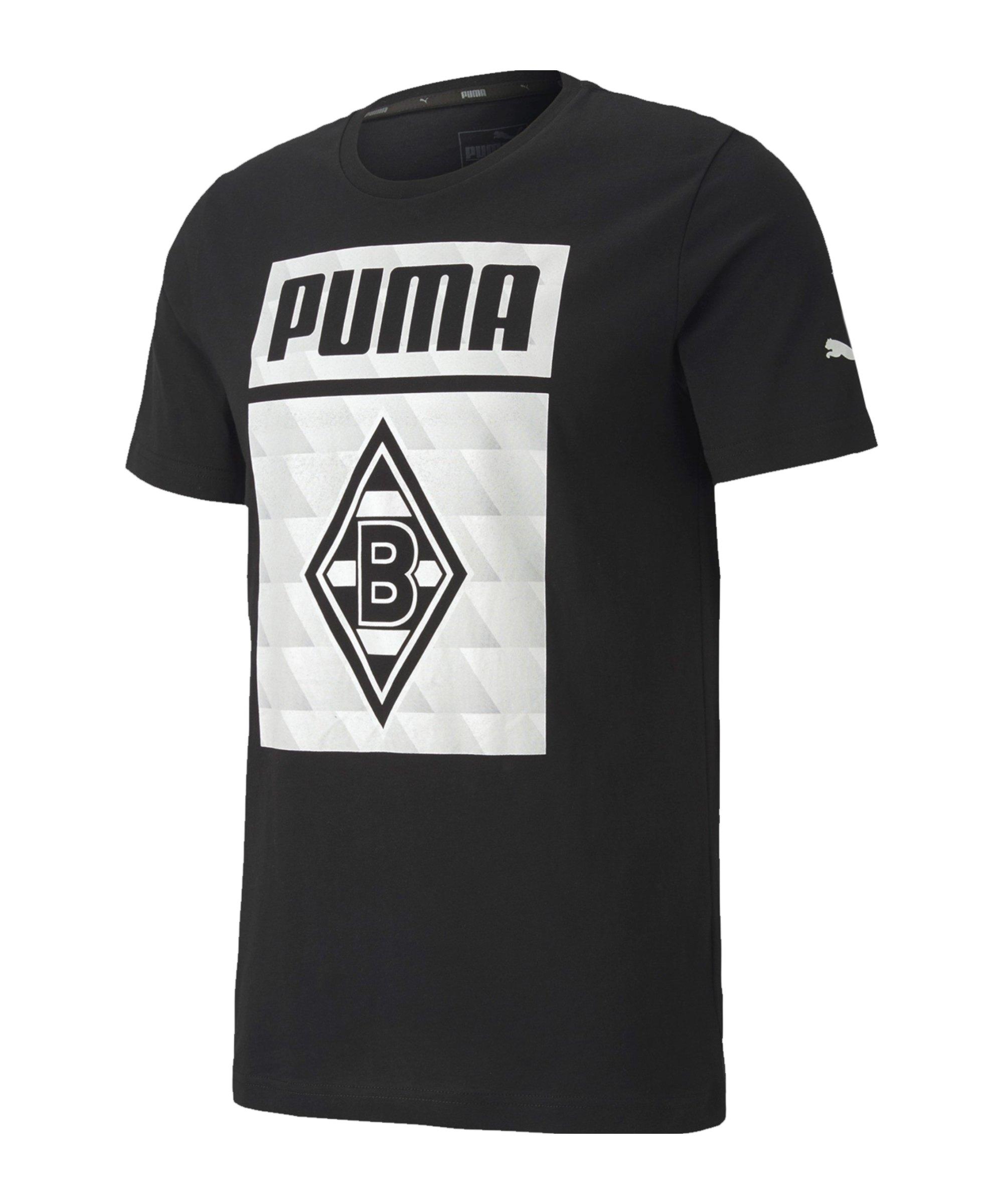 Borussia Mönchengladbach Graphic T-Shirt Schwarz F02 - schwarz