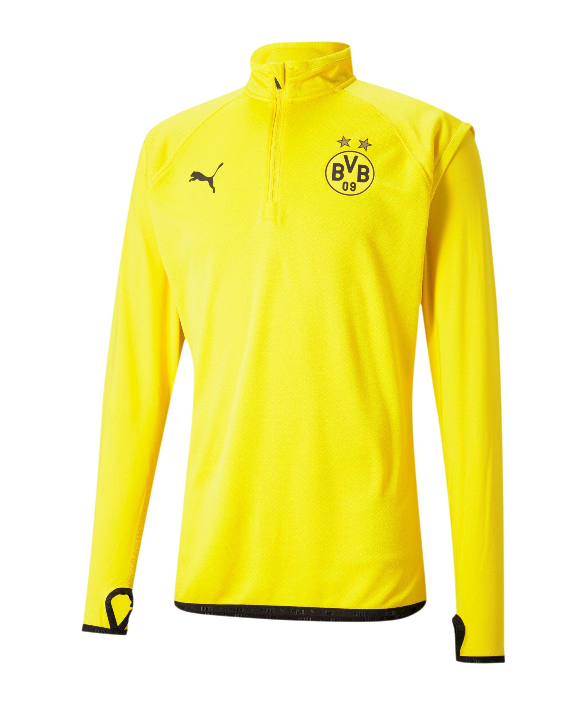 PUMA BVB Dortmund 1/4 Zip Top Gelb F01 - gelb