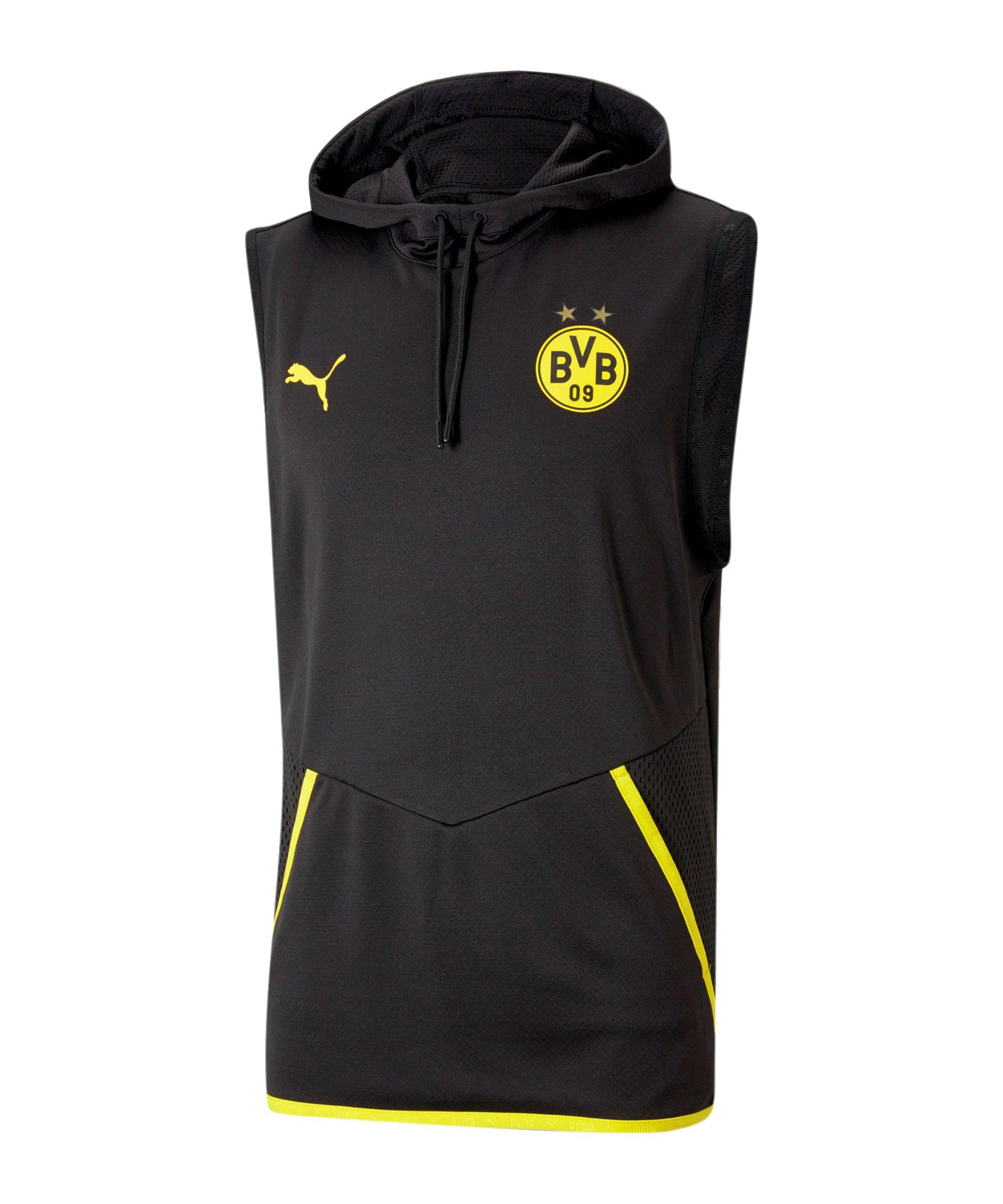 PUMA BVB Dortmund Warmup Hoody Schwarz F02 - schwarz