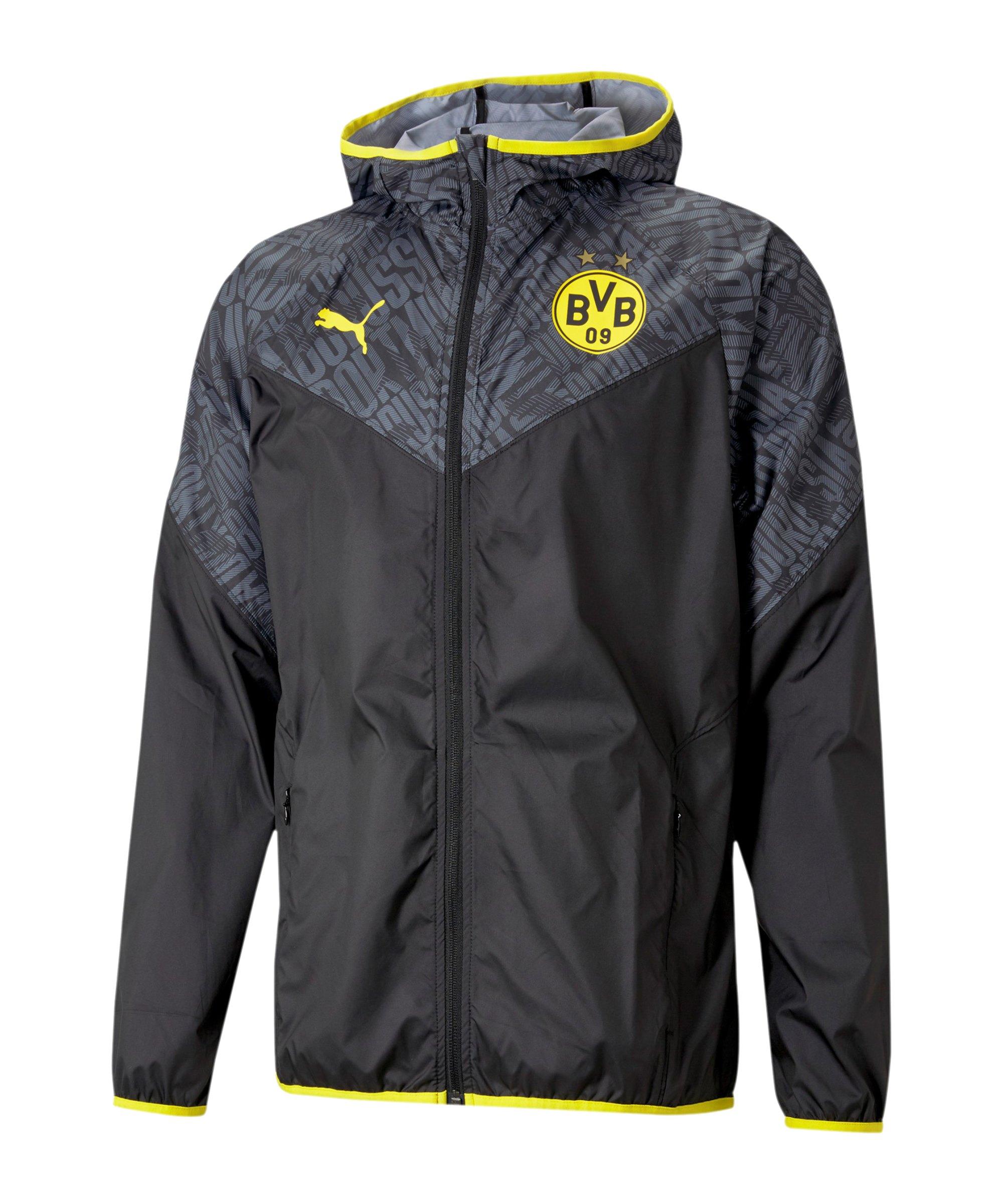 PUMA BVB Dortmund Warmup Jacke Schwarz F02 - schwarz